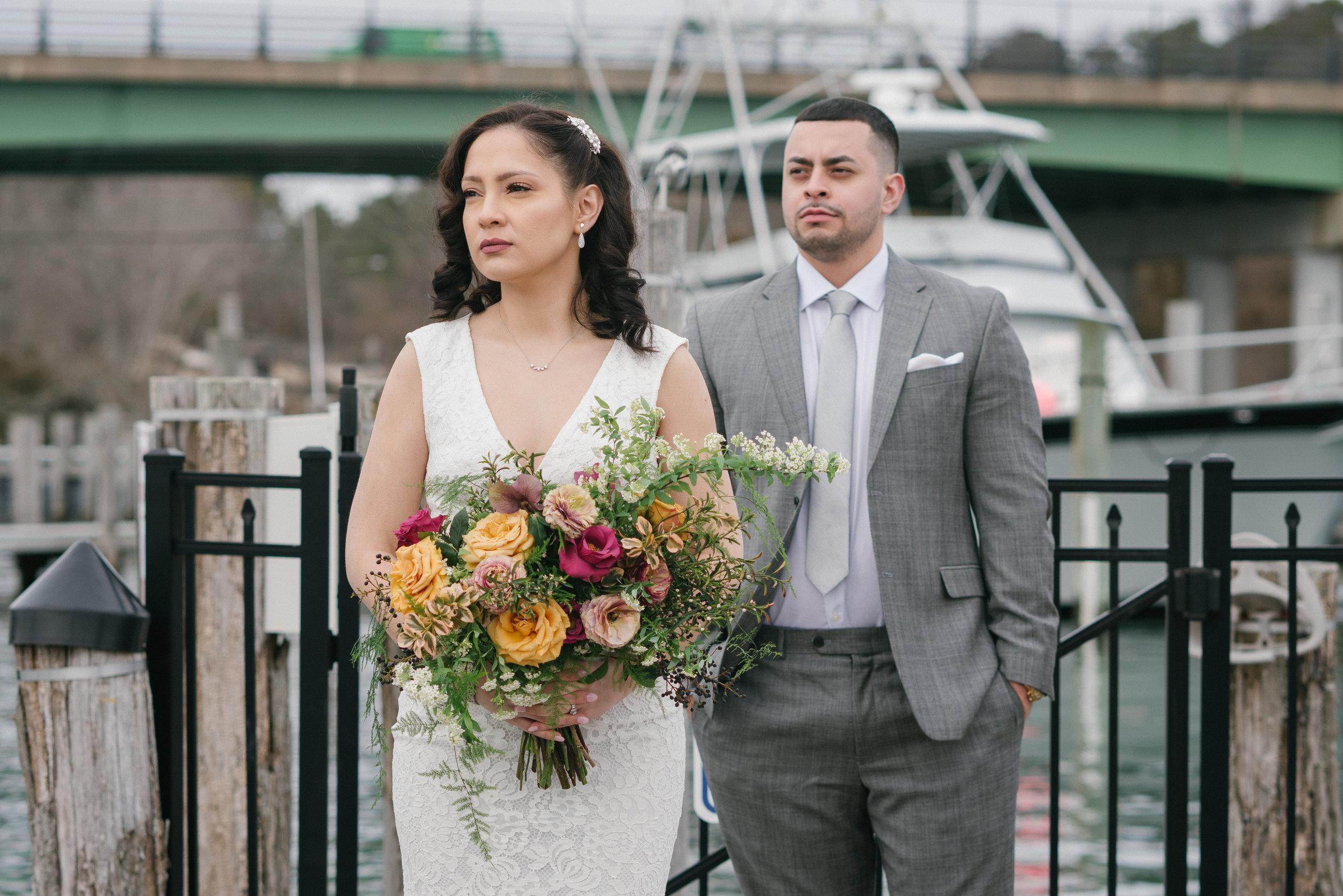 Venue:  Cowfish Restaurant  Florals:  Roses and Rice  Photography:  Crystal Stewart Photo