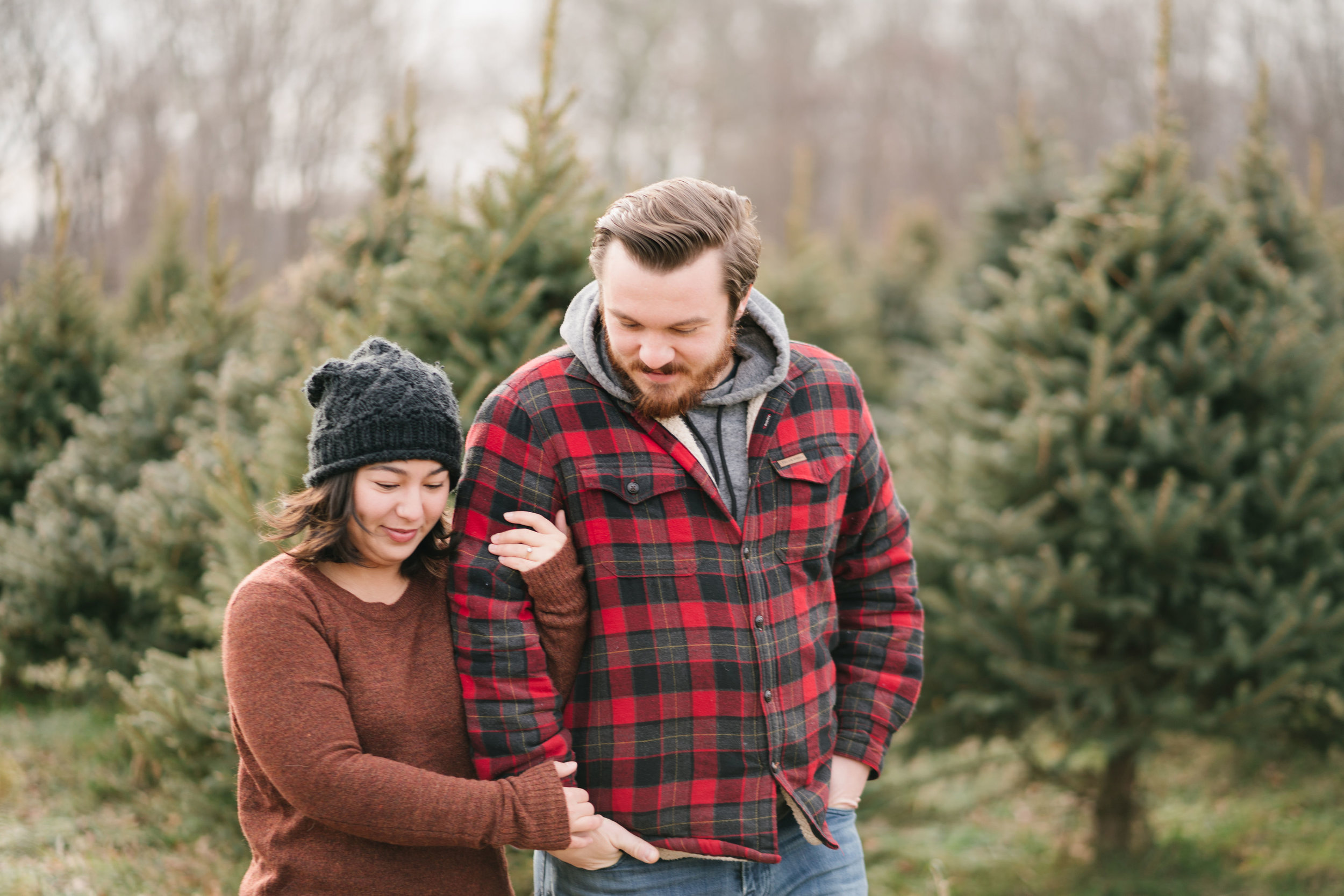 engagement session at maple row tree farm CT