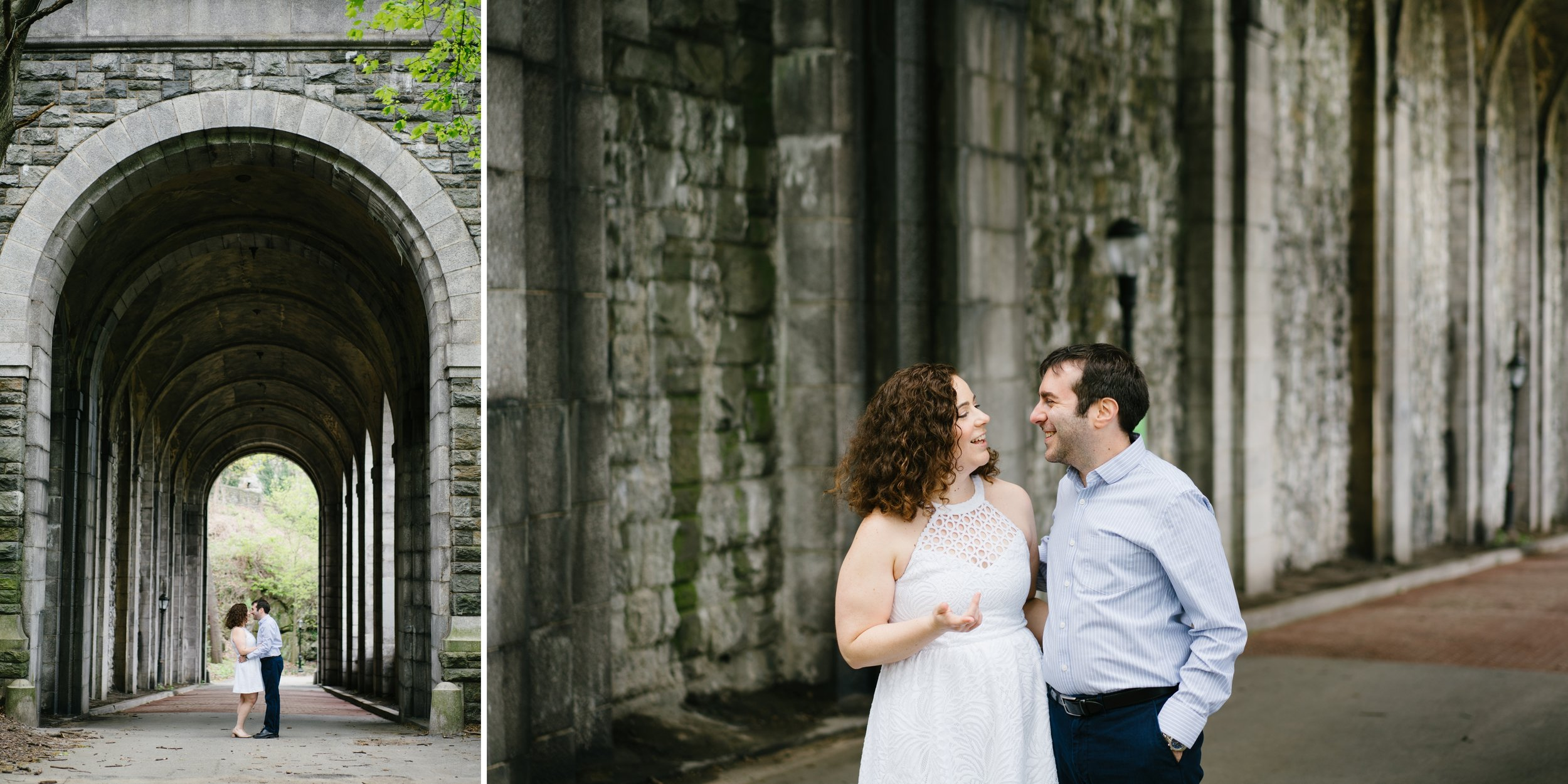 Engagement session in Fort Tryon Park CLoisters in NYC