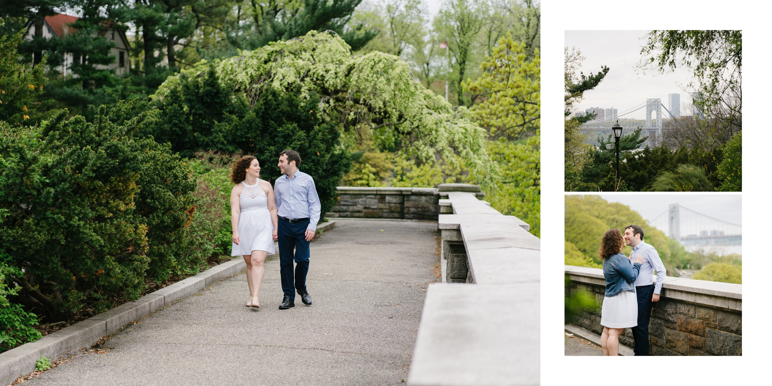 New York city engagement session near the cloisters at fort Tryon park