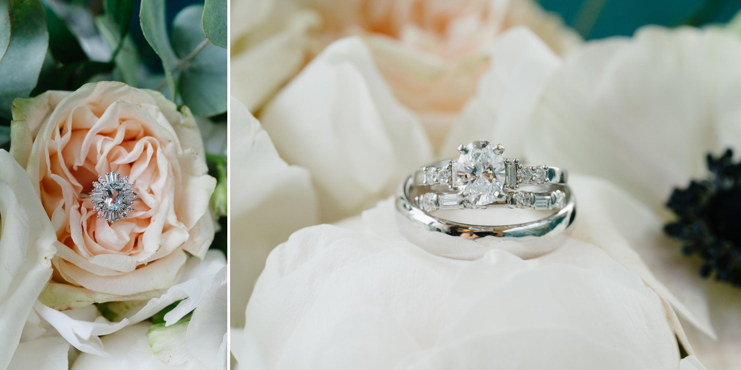 wedding rings at los angeles wedding