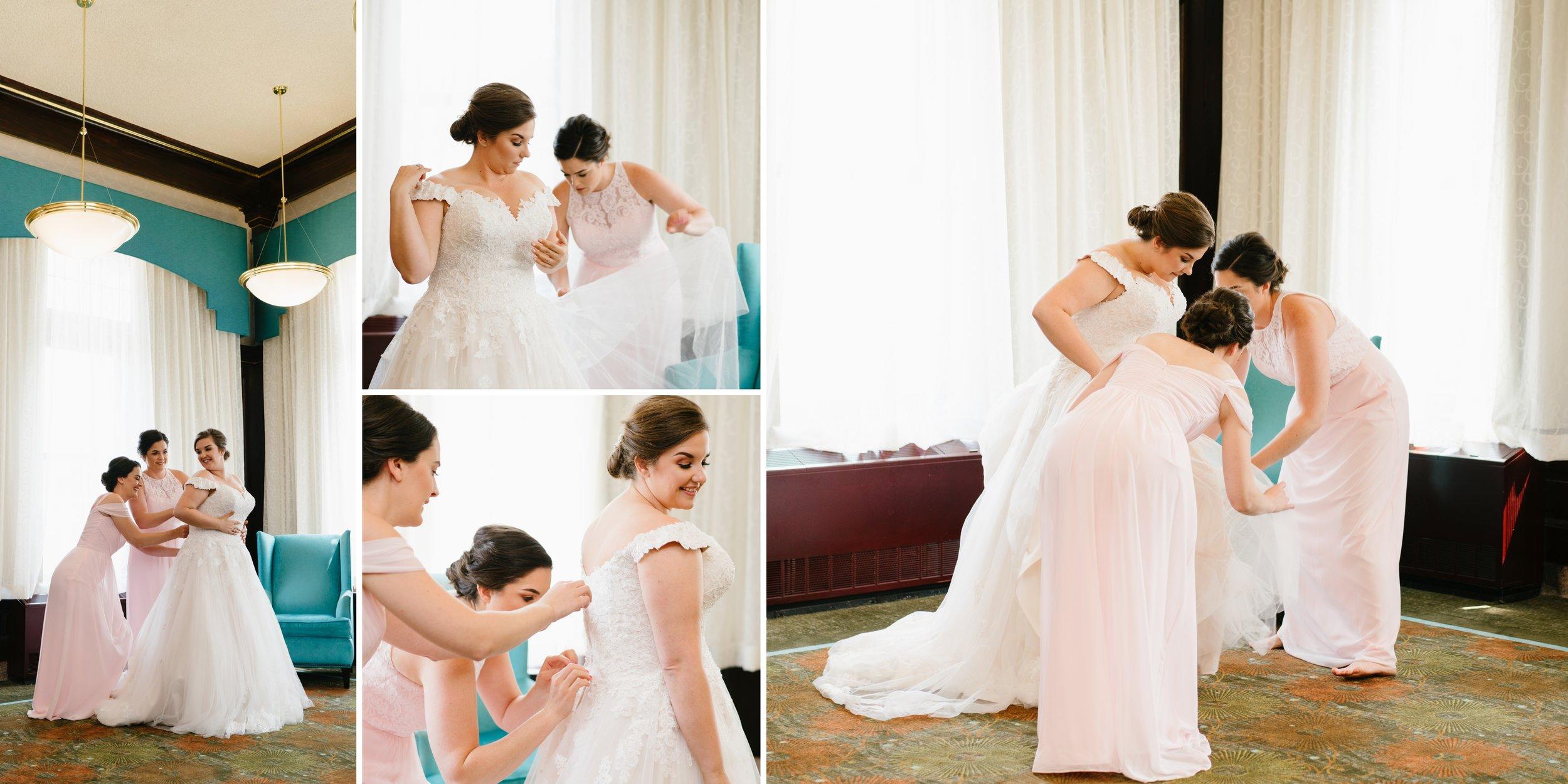 bride getting ready at los angeles wedding