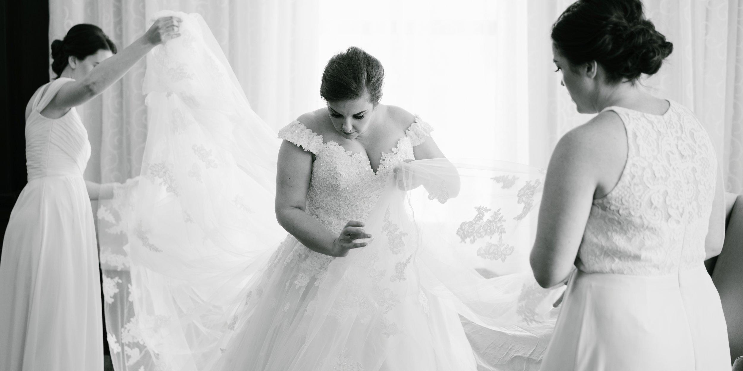 Bride at LA wedding