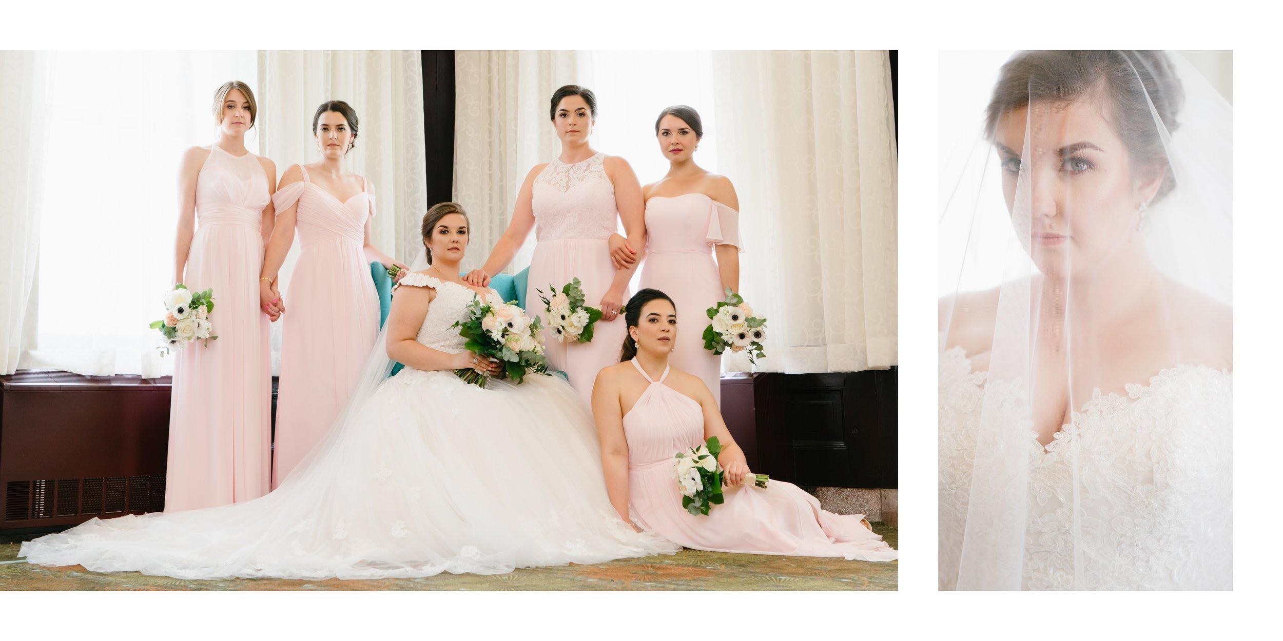 bridesmaids at wedding in los angeles
