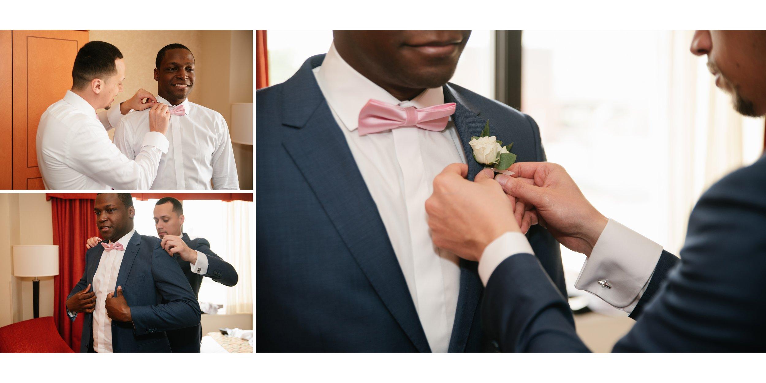 groom getting ready at los angeles wedding