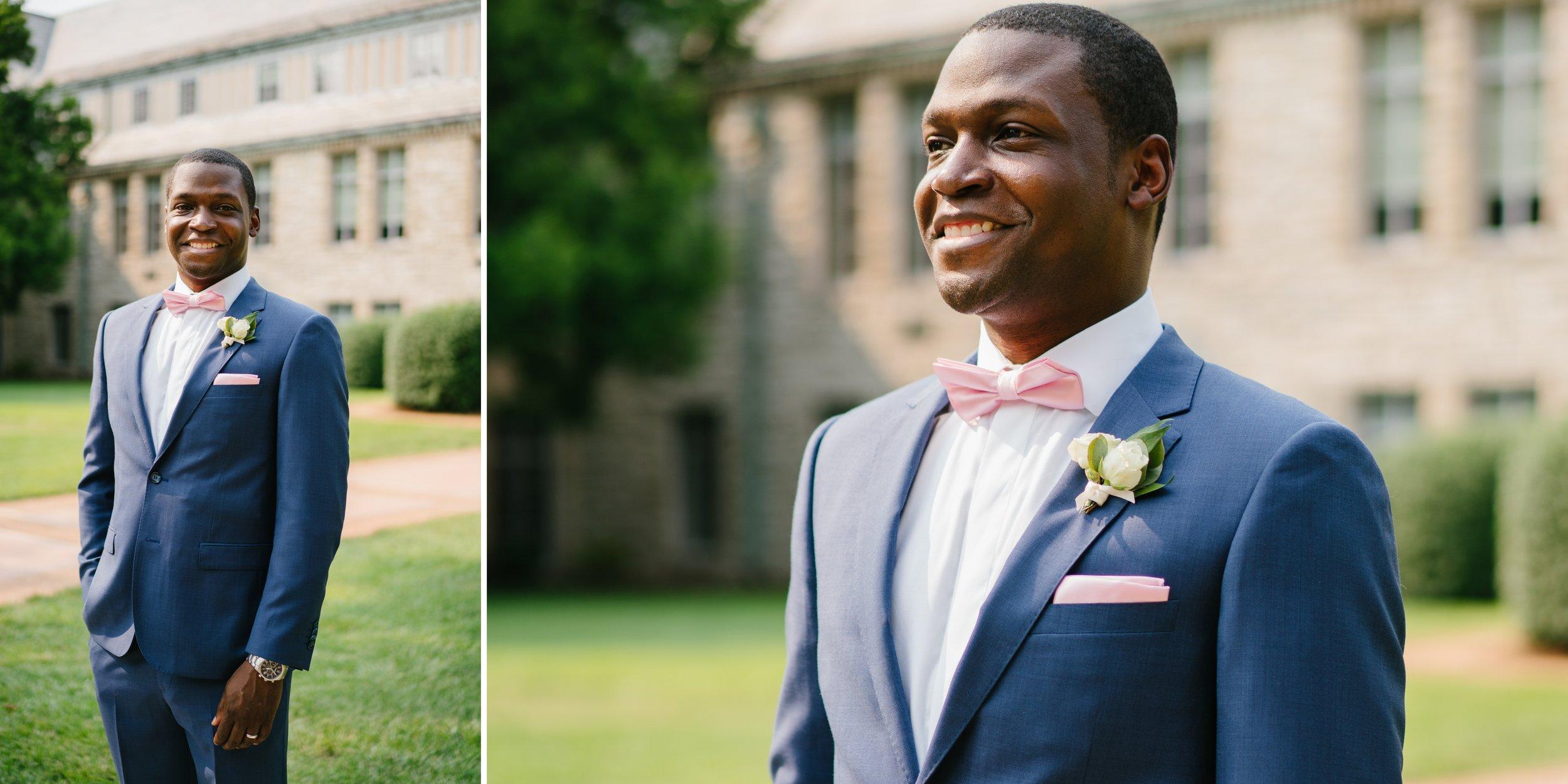 groom at los angeles wedding