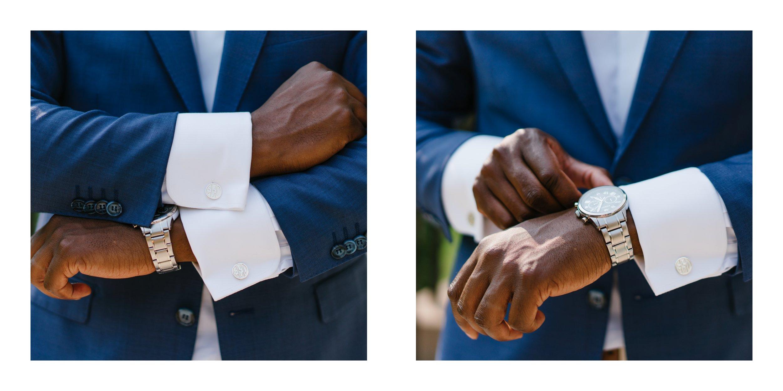 grooms details at wedding in los angeles