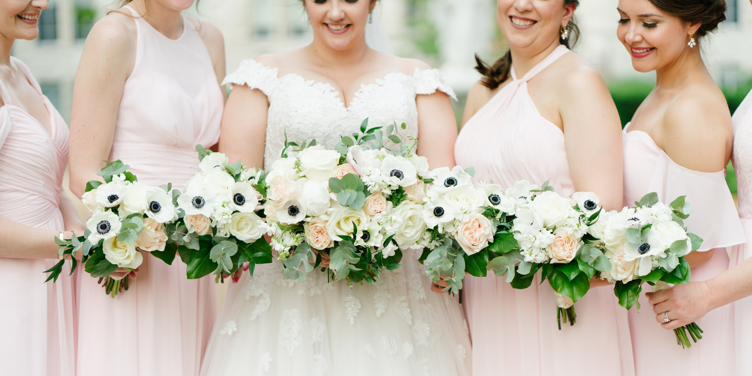 wedding bouquet at wedding in los angeles