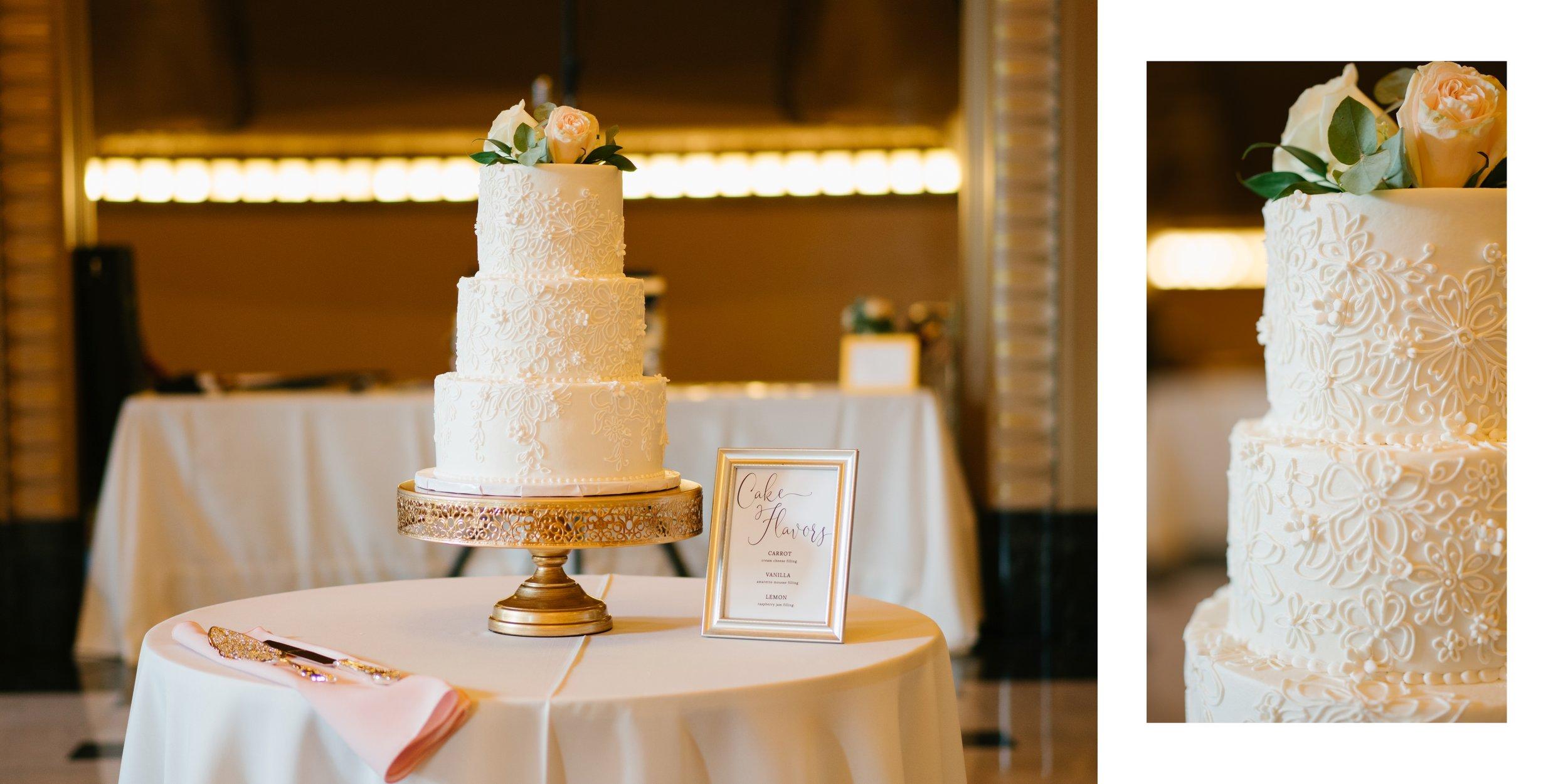 cake at wedding los angeles