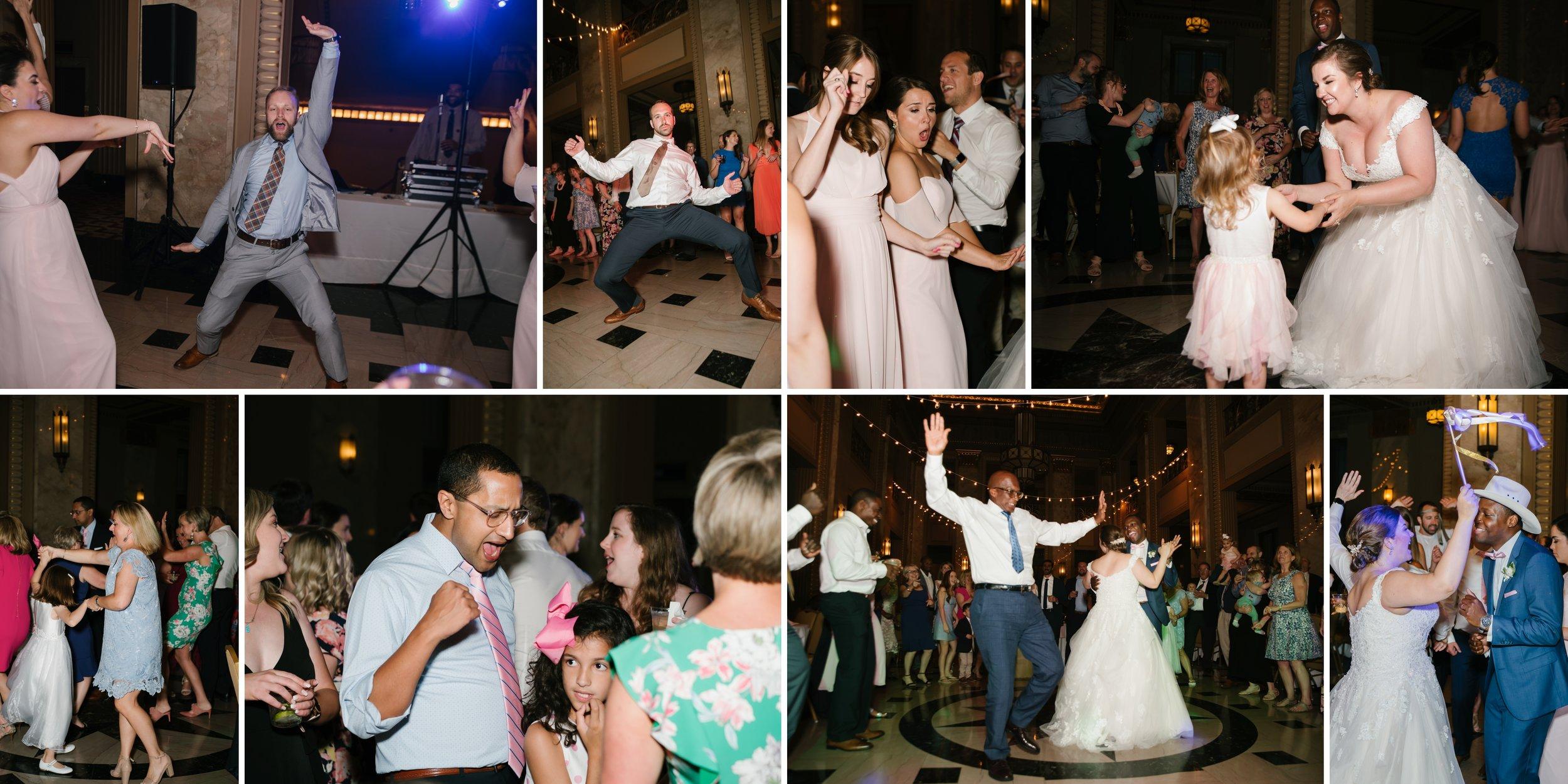 reception at los angeles wedding