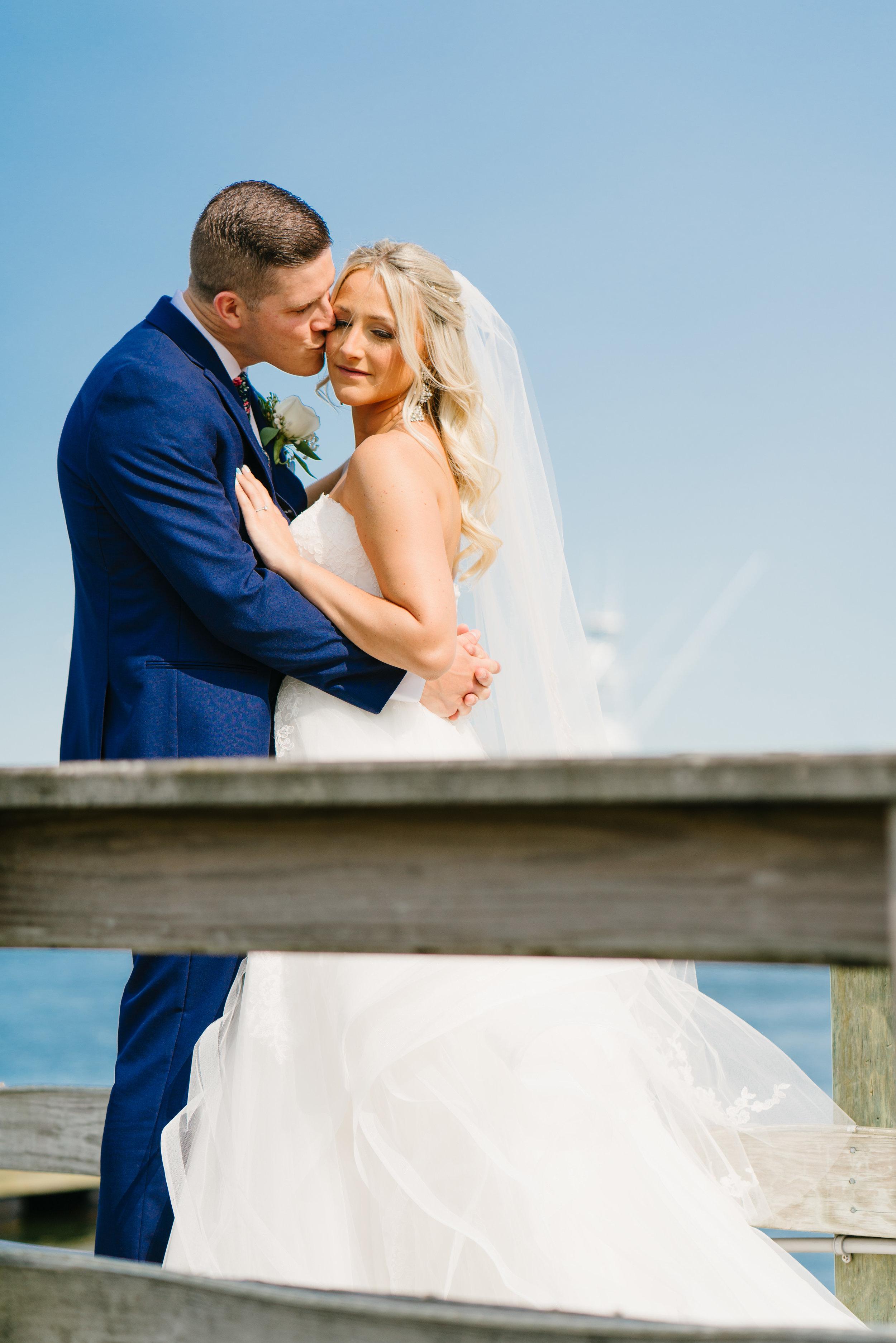 bride and groom at wedding in Los Angeles