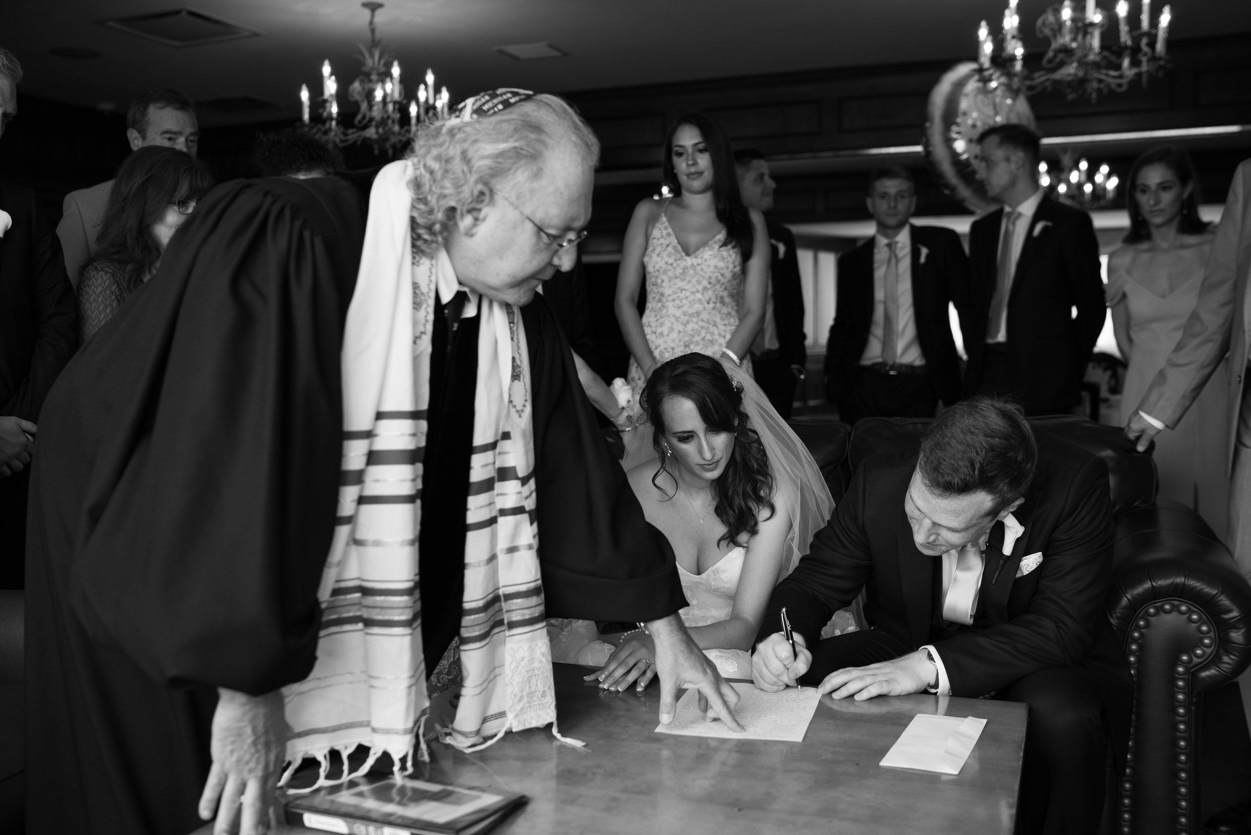ketubah signing Los Angeles wedding photography