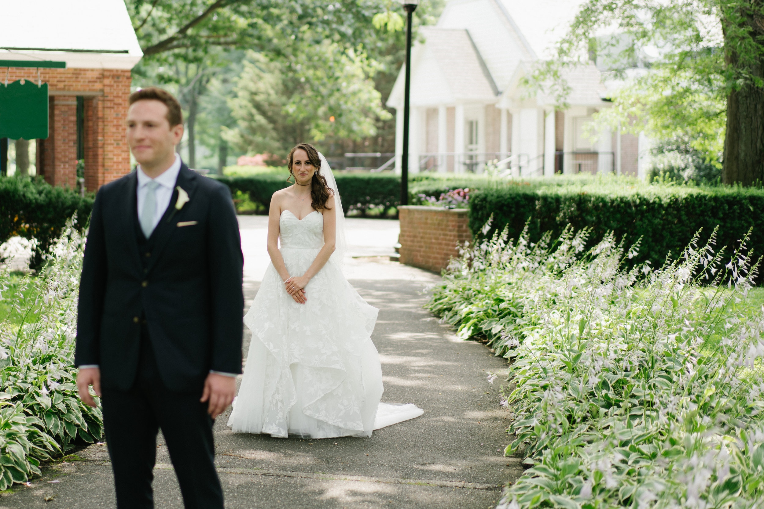 first look at wedding by wedding photographer in los angeles