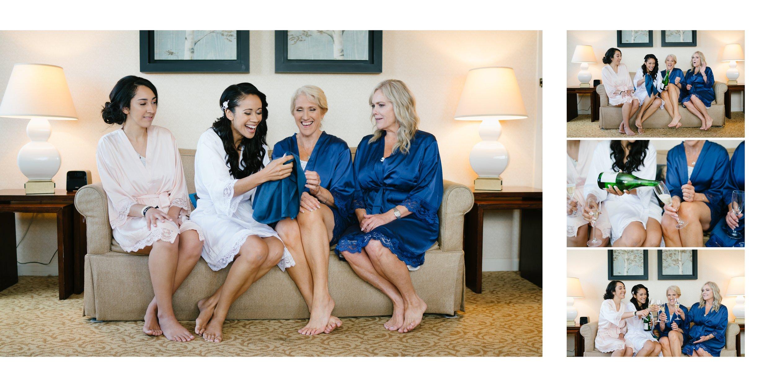 bride with bridesmaids | los angeles wedding photographer