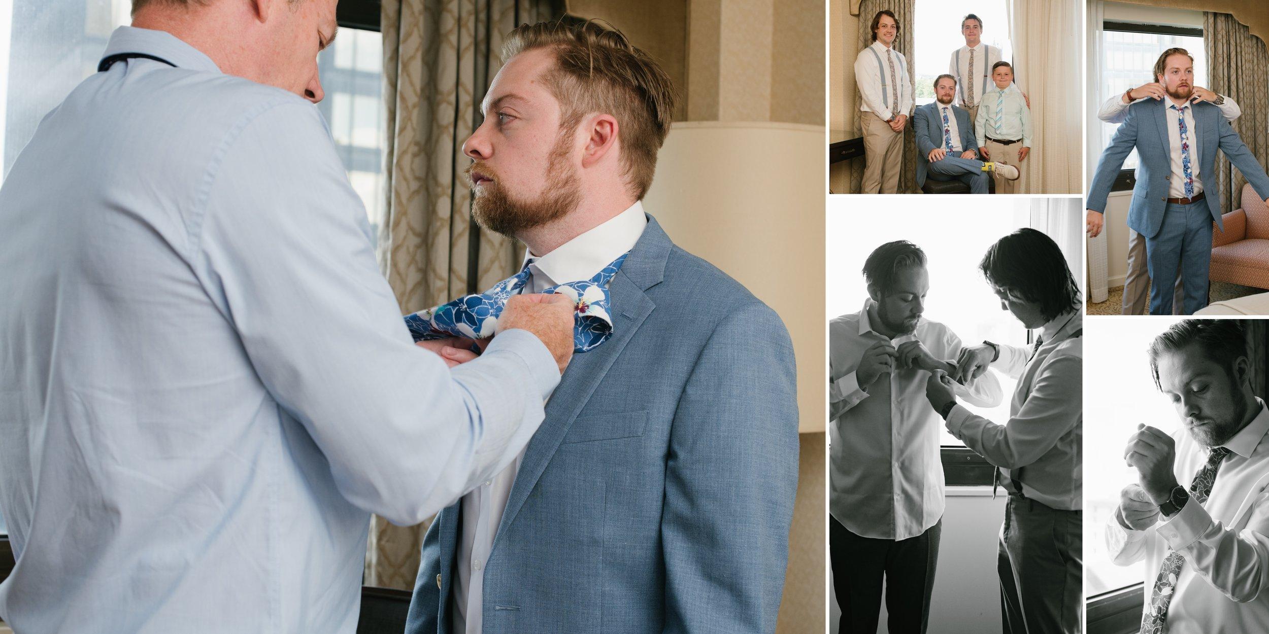 groom getting ready los angeles wedding photographer