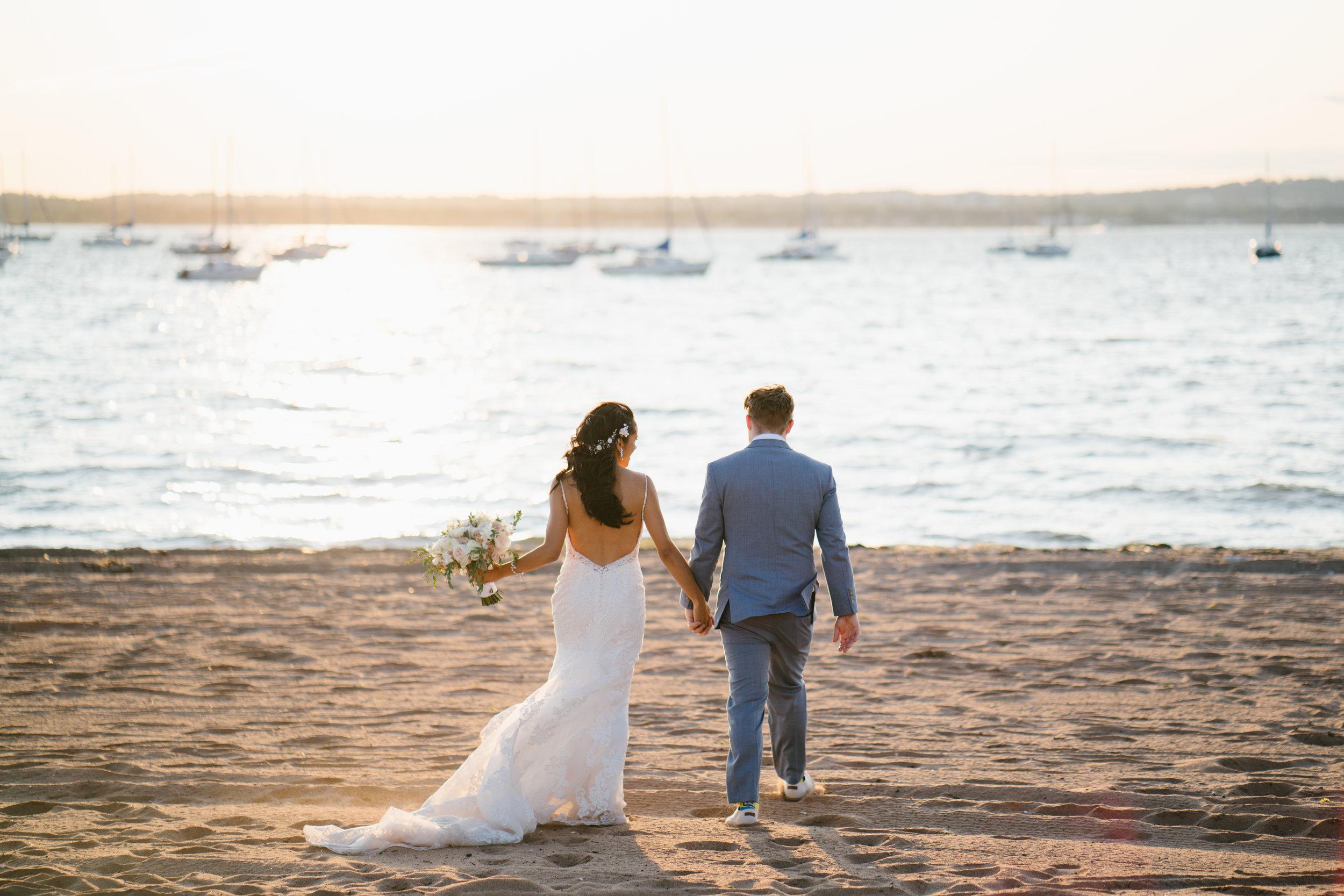 wedding on newport beach