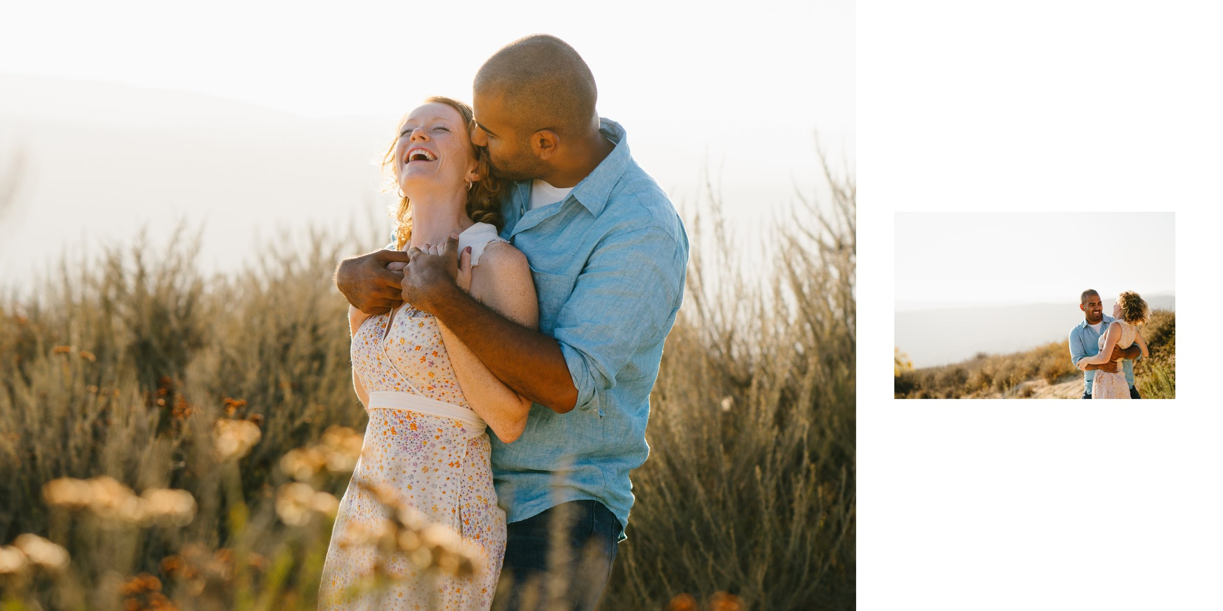 top of the world engagement session laguna beach