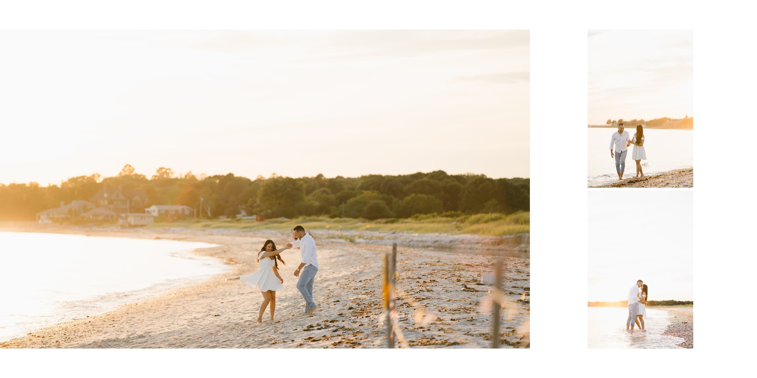 Los Angeles engagement on the beach