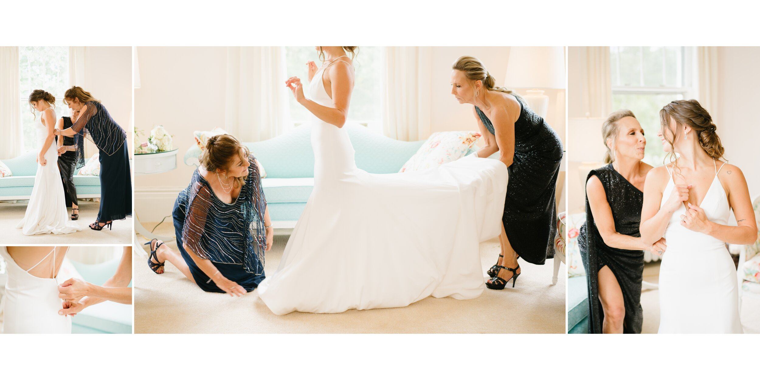 bride getting ready at Lounsbury House