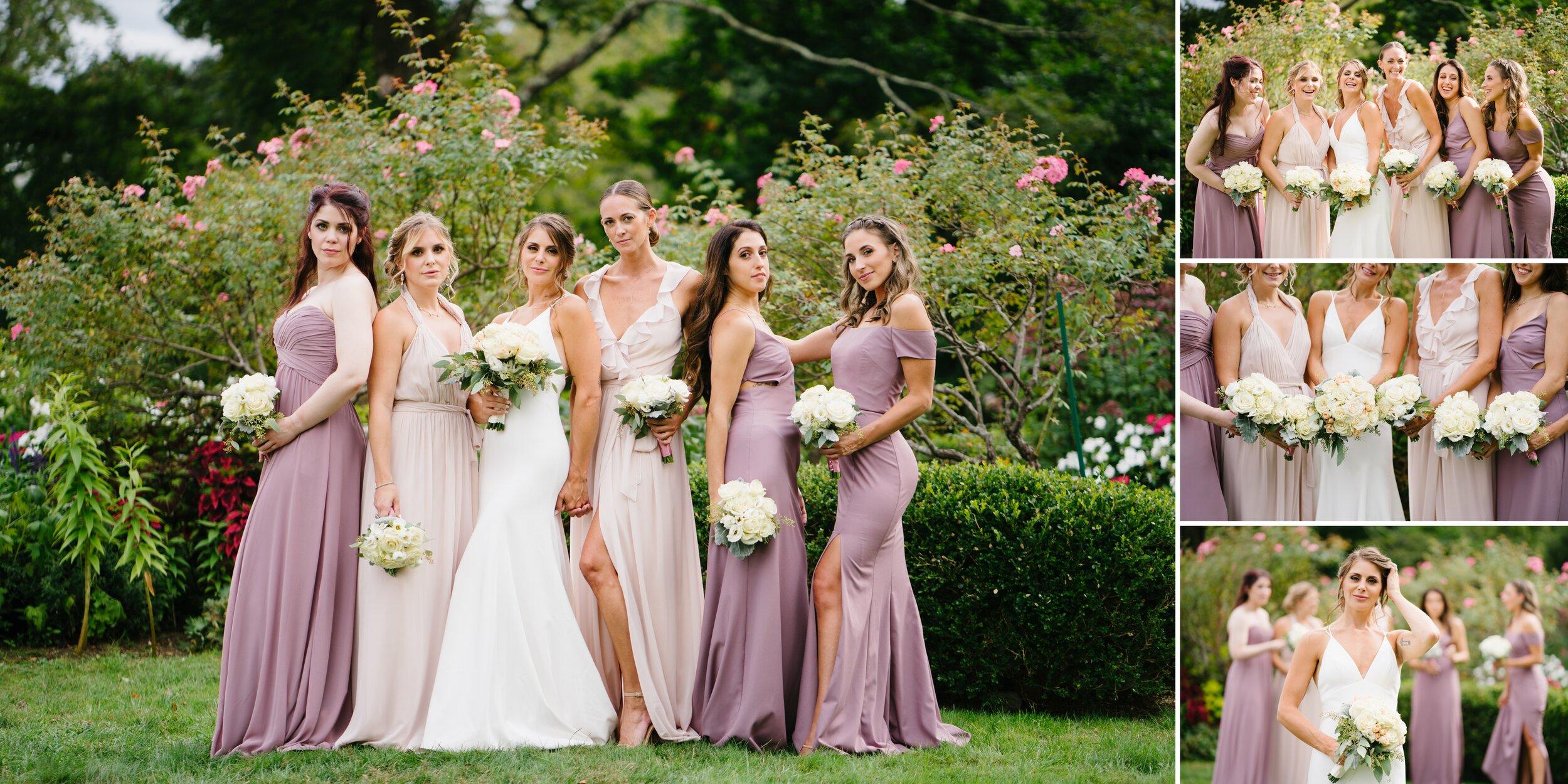 bridesmaids at Lounsbury house