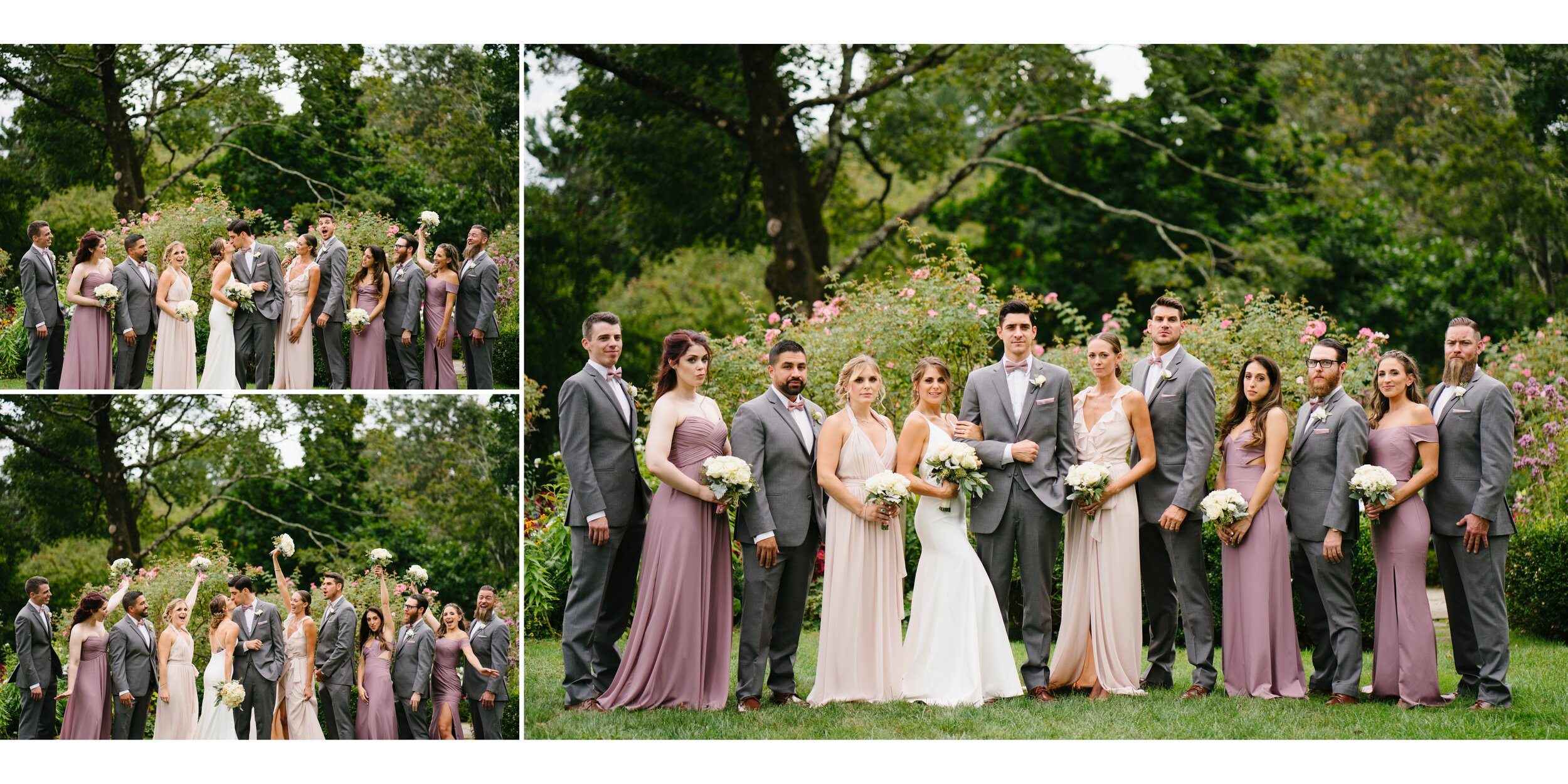 wedding party at Lounsbury house