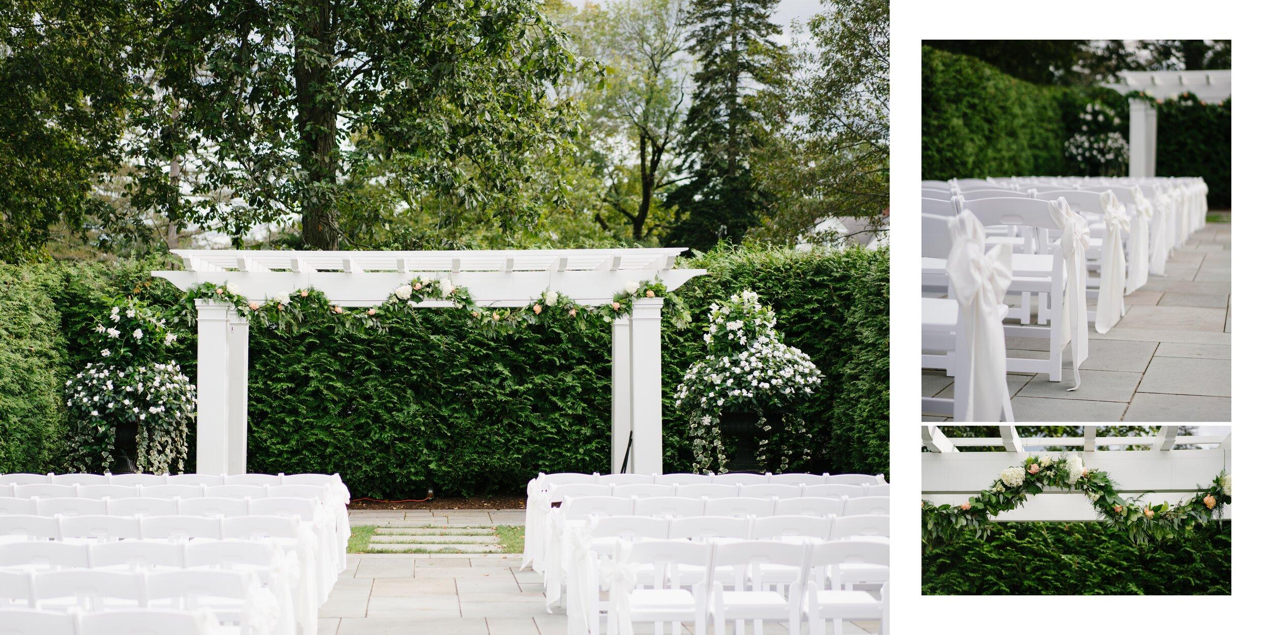 wedding ceremony at Lounsbury house