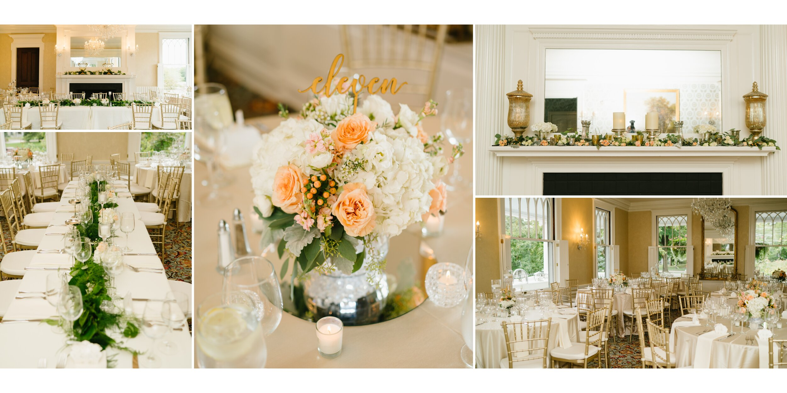 wedding details at lounsbury house
