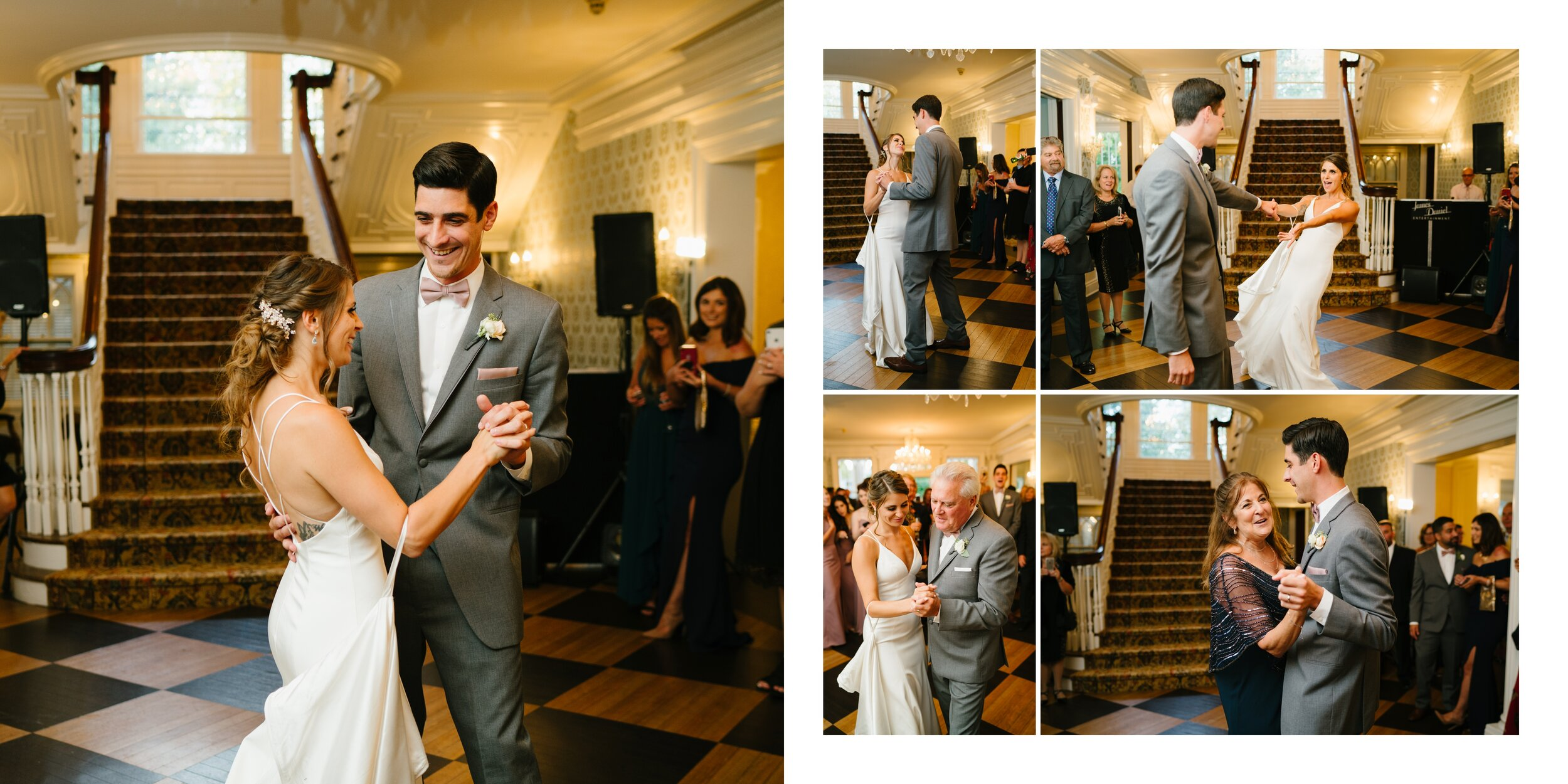couples first dance at lounsbury house