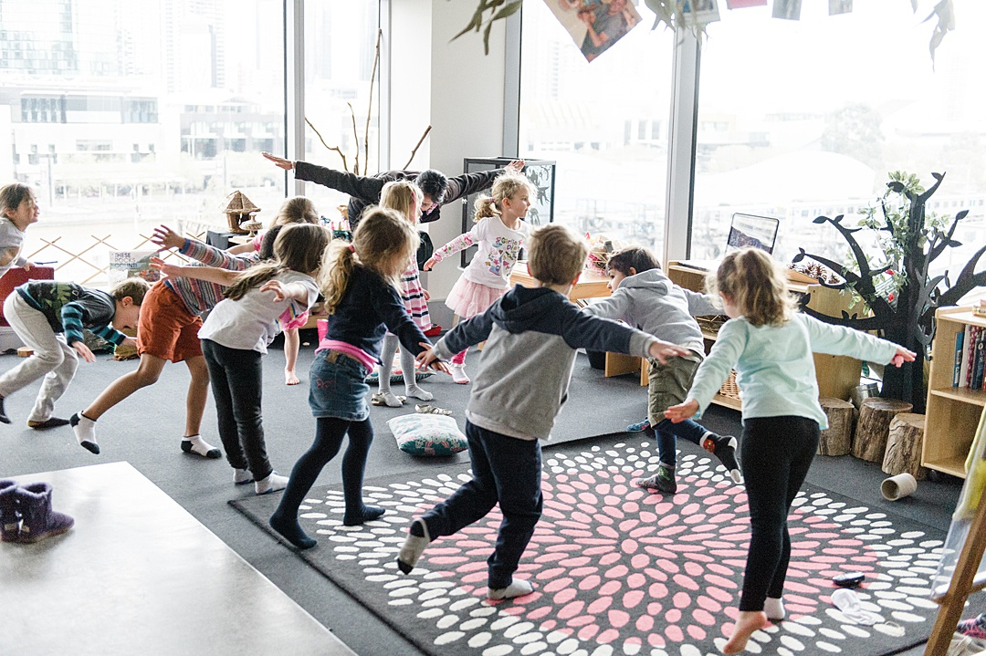 Sentia Early Learning child care day care Melbourne city kids yoga
