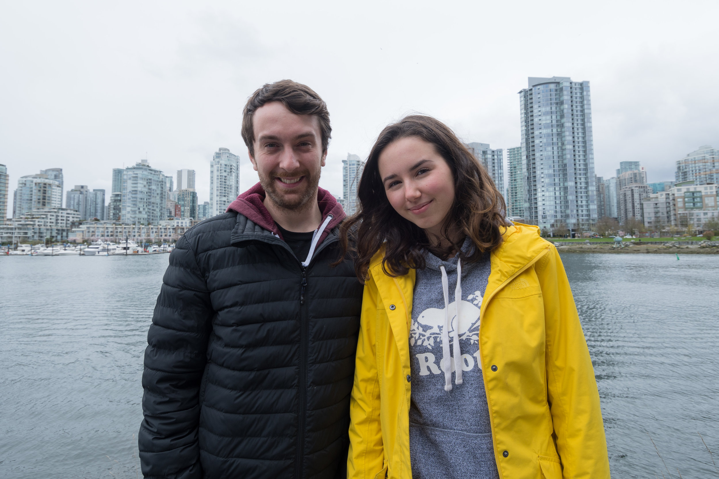 Emily Lowan, on the right, with her mentor Kyle Empringham. Photo: Ivan Belko Photography