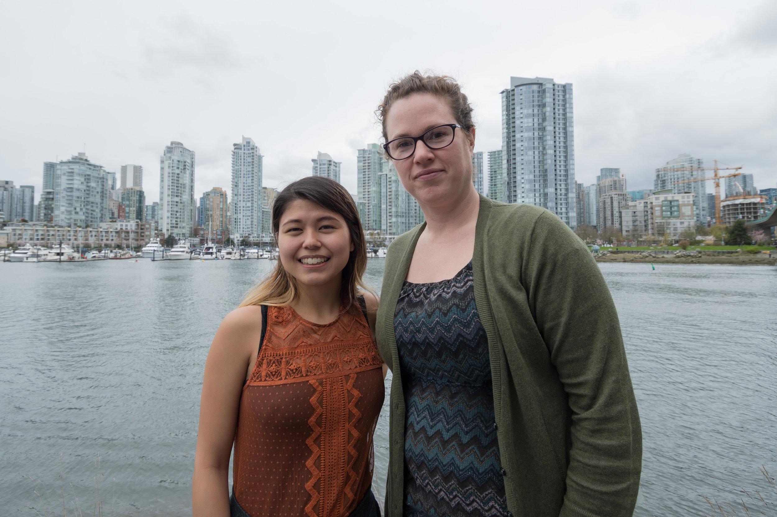 Bella Margolles (left) with mentor Hilary Miller with Climate Smart. Photo: Ivan Belko.