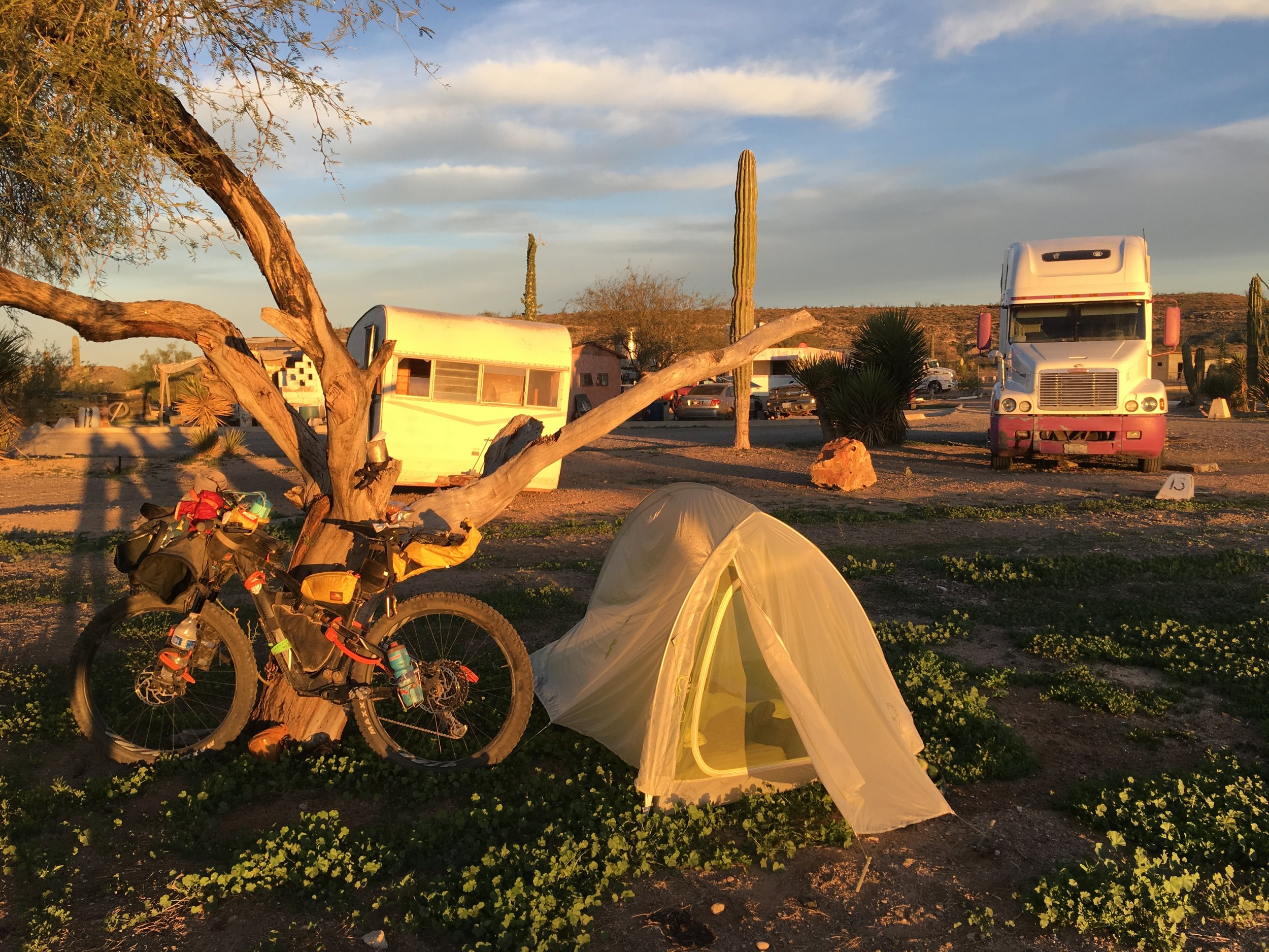 Abandoned truck stop campground