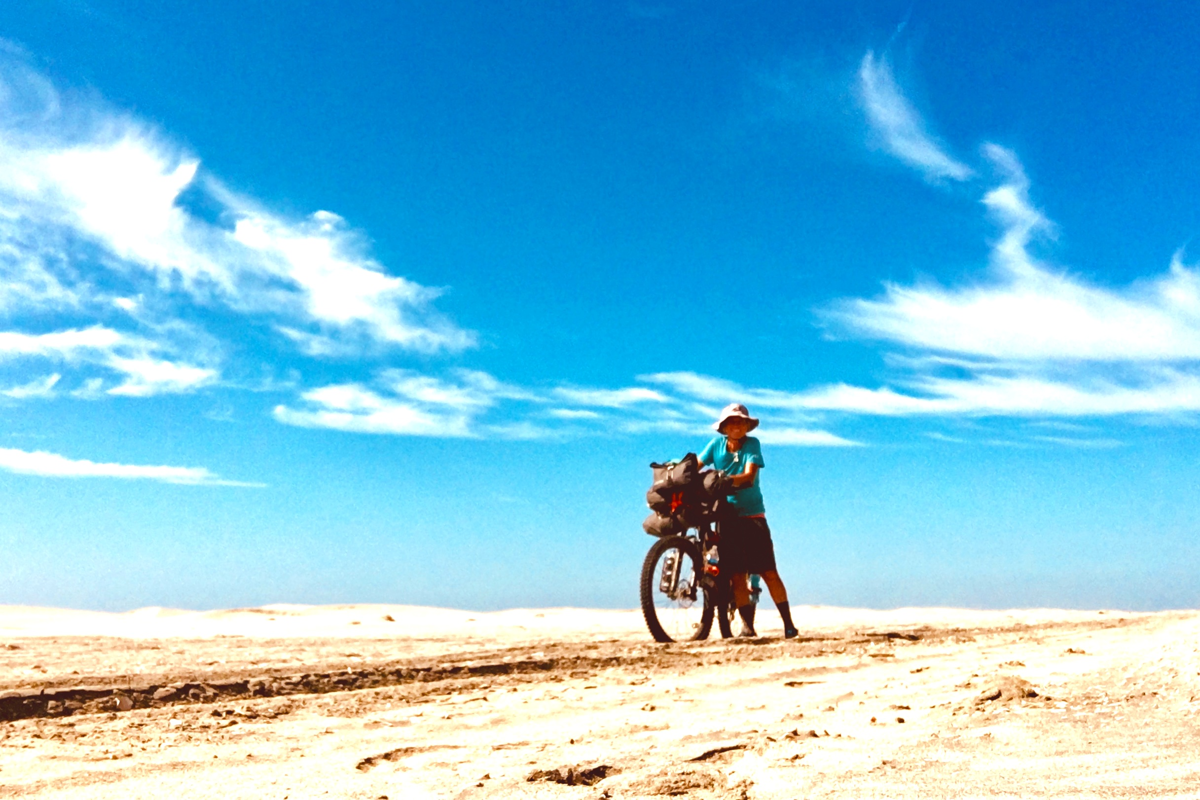 It's a struggle to ride through deep sand