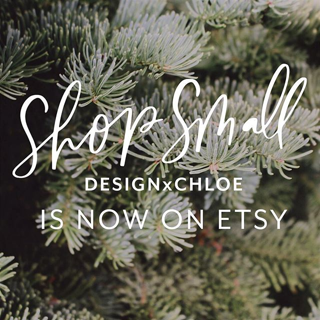 Just in time for #SmallBusinessSaturday, the #DesignxChloe shop is now on @etsy !! It's been a long time coming, but thank you to everyone who's supported and purchased prints and signs over the years. You're the best! ✨😊💌 www.etsy.com/designxchloe