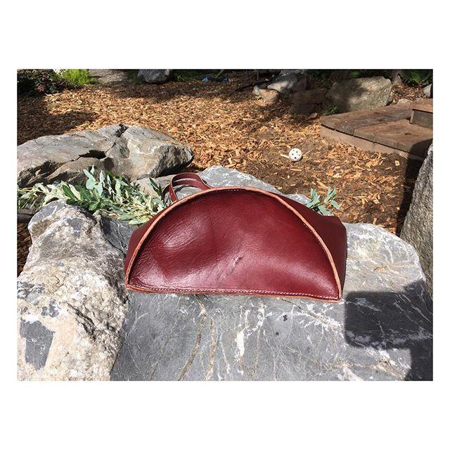 10.1.2018 #leatherwork #doehandcrafted #halfmoon #wiffleball