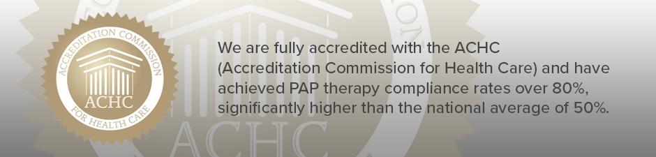 ACHC Sleep accreditation banner for innovative sleep centers