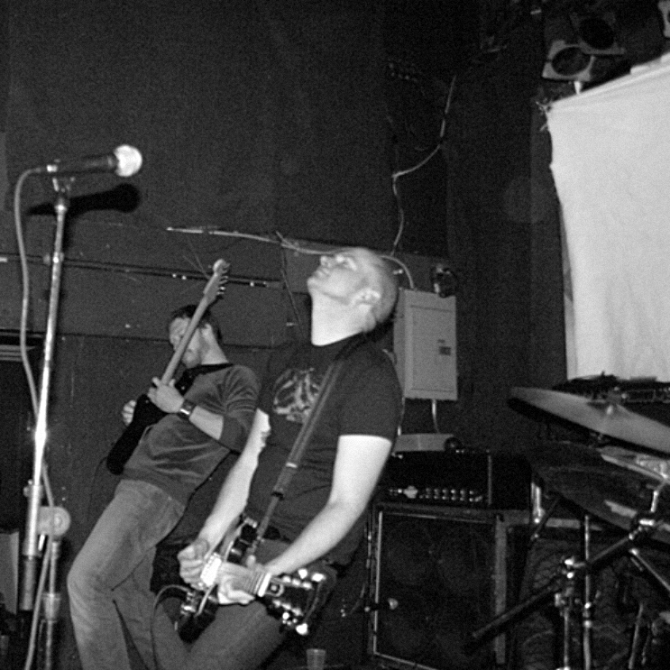 Possibly the only photographic evidence of my brief stint filling in for Bryant Clifford Meyer on guitar with Red Sparowes.  TT The Bear, Boston  8 March 2007