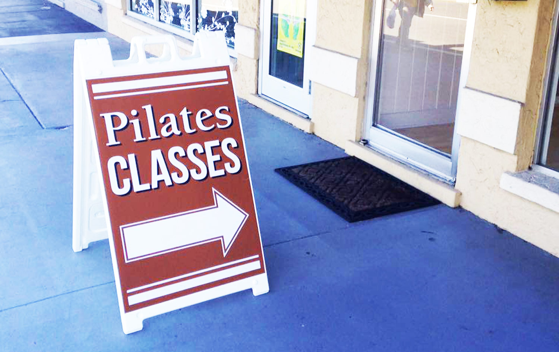 Nina Desloge-Day teaching in Sarasota at her studio Pilates Works of Sarasota.