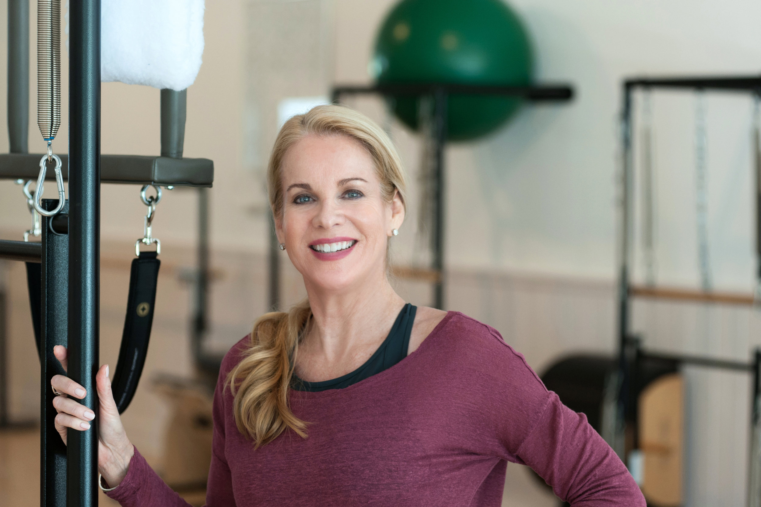 Nina Desloge-Day, a STOTT PILATES® Certified Instructor. Owner of the Pilates Works of Sarasota studio, located in Sarasota, FL.