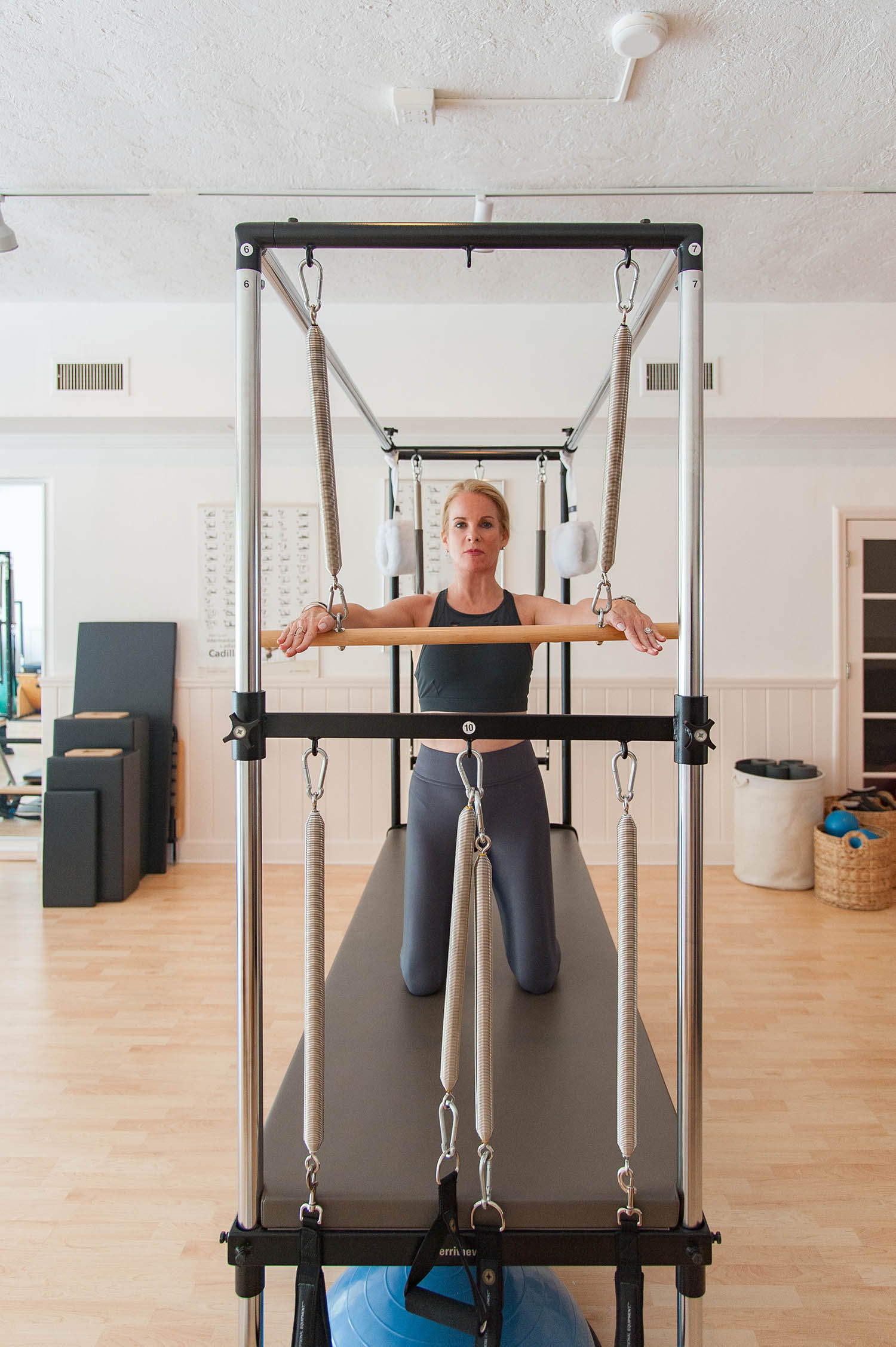 Pilates Works of Sarasota, a Pilates Studio in Sarasota, FL. Fully equipped, including the Pilates Cadillac.