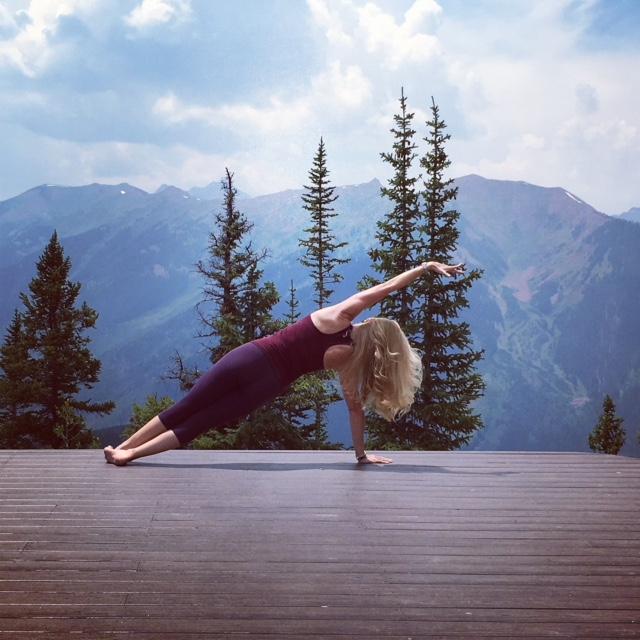 Nina Desloge-Day, performing Pilates in Aspen, CO.