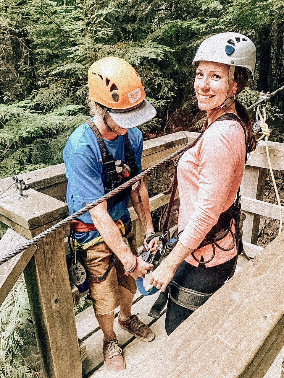 Safety best zipline tour in Canada USA