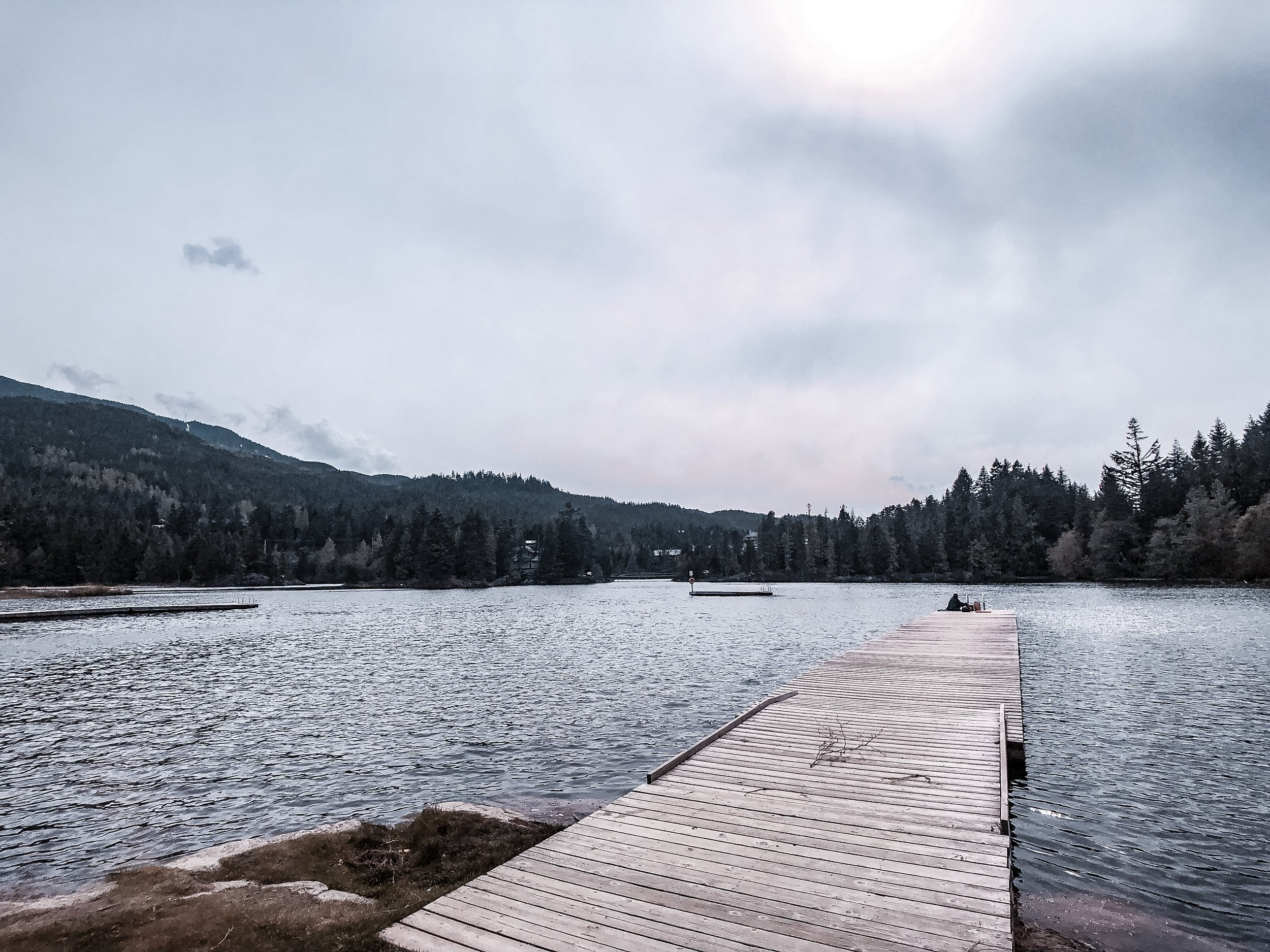Alpha Lake Dock in Whistler Canada