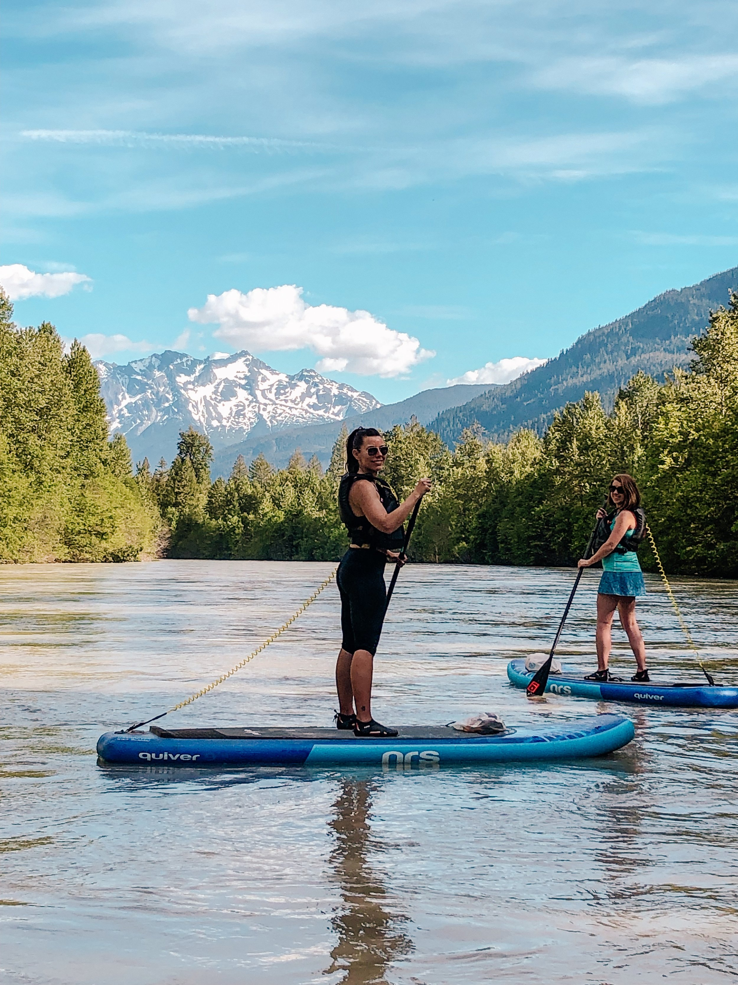 River stand up paddling in Whistler