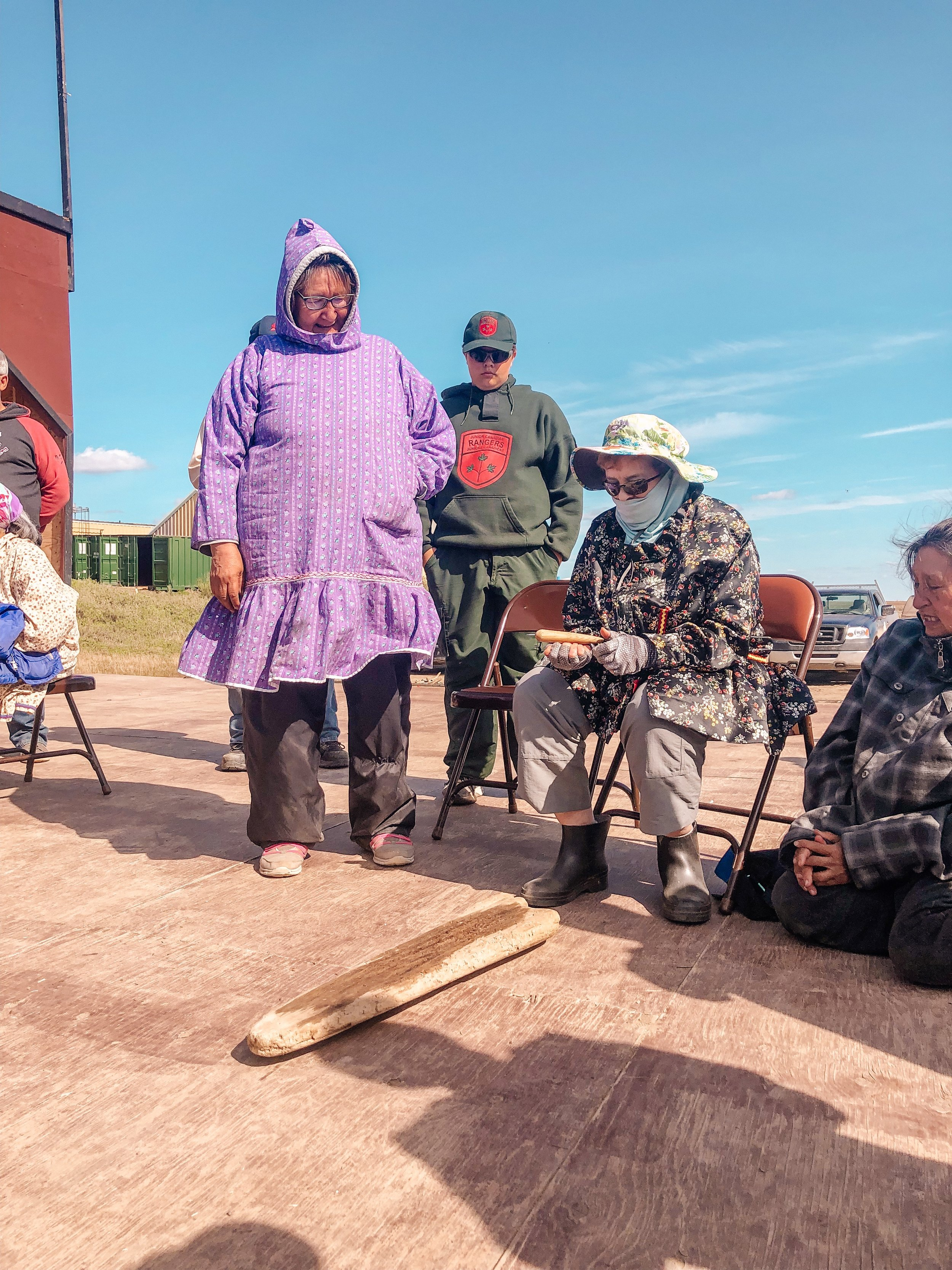 Traditional Inuit Games on National Indigenous Peoples Day in Tuktoyaktuk Northwest Territories Canada