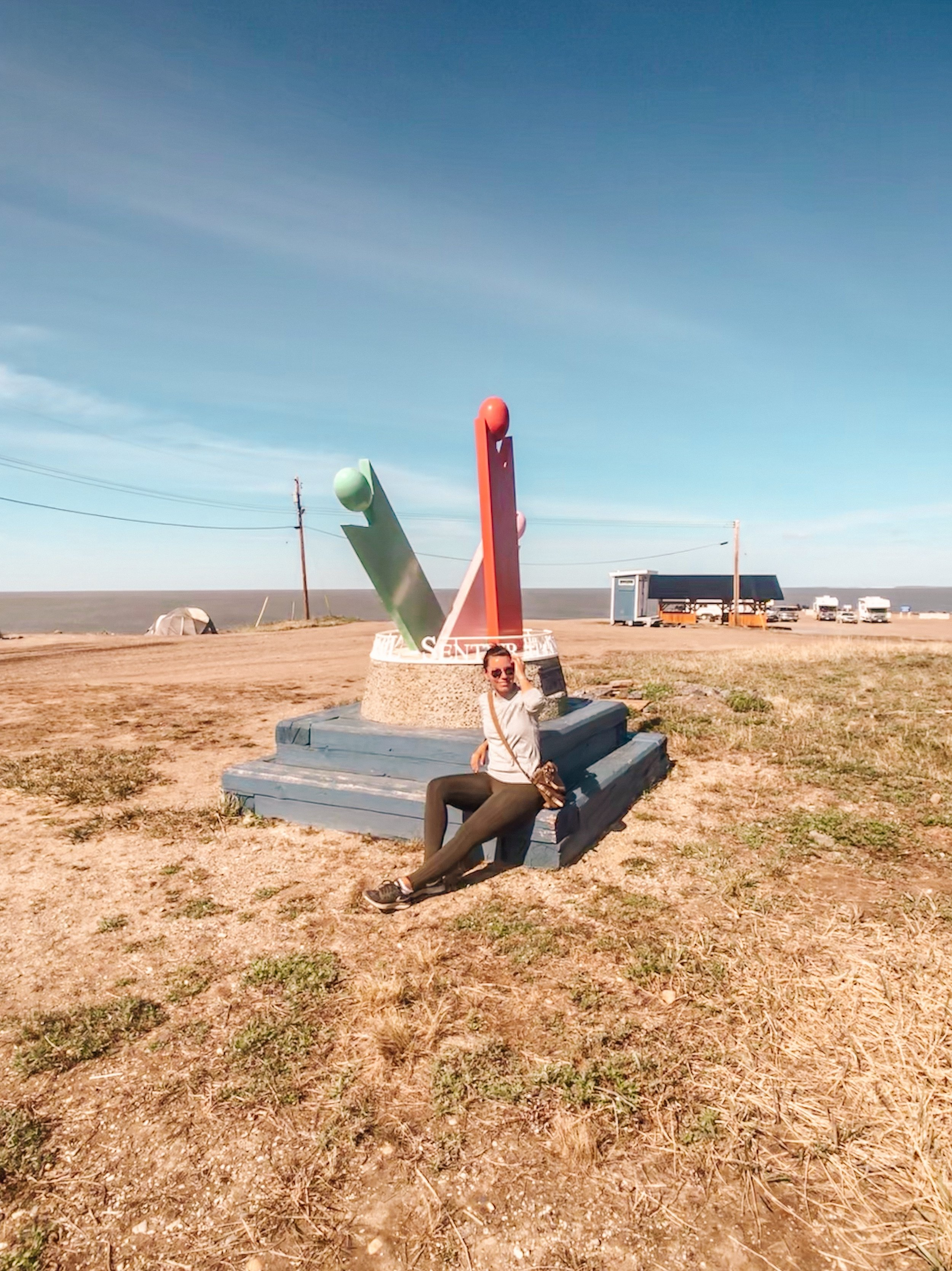 The most northern point in Canada at Tuktoyaktuk Northwest Territories