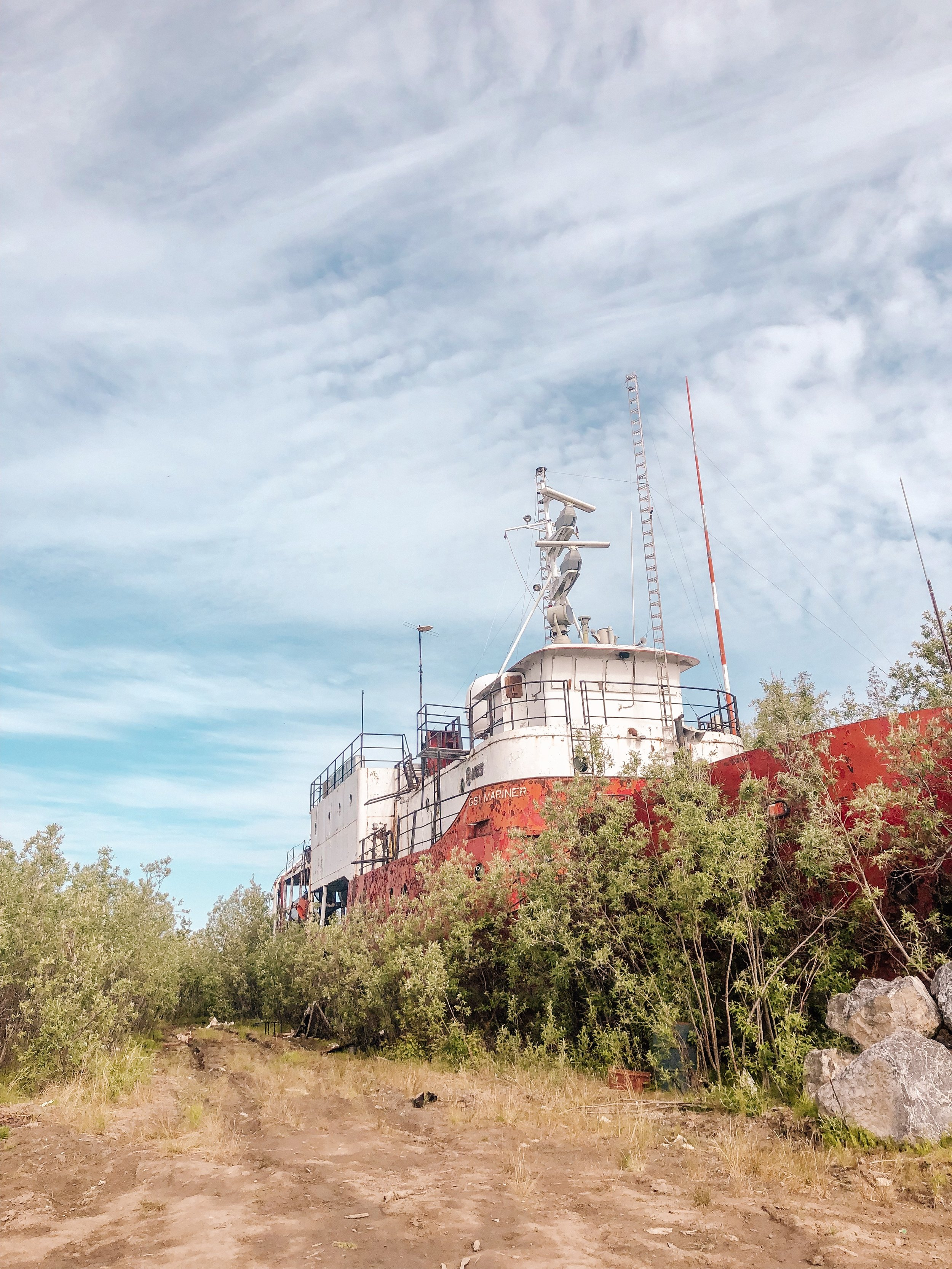 Abandoned ship in Inuvik