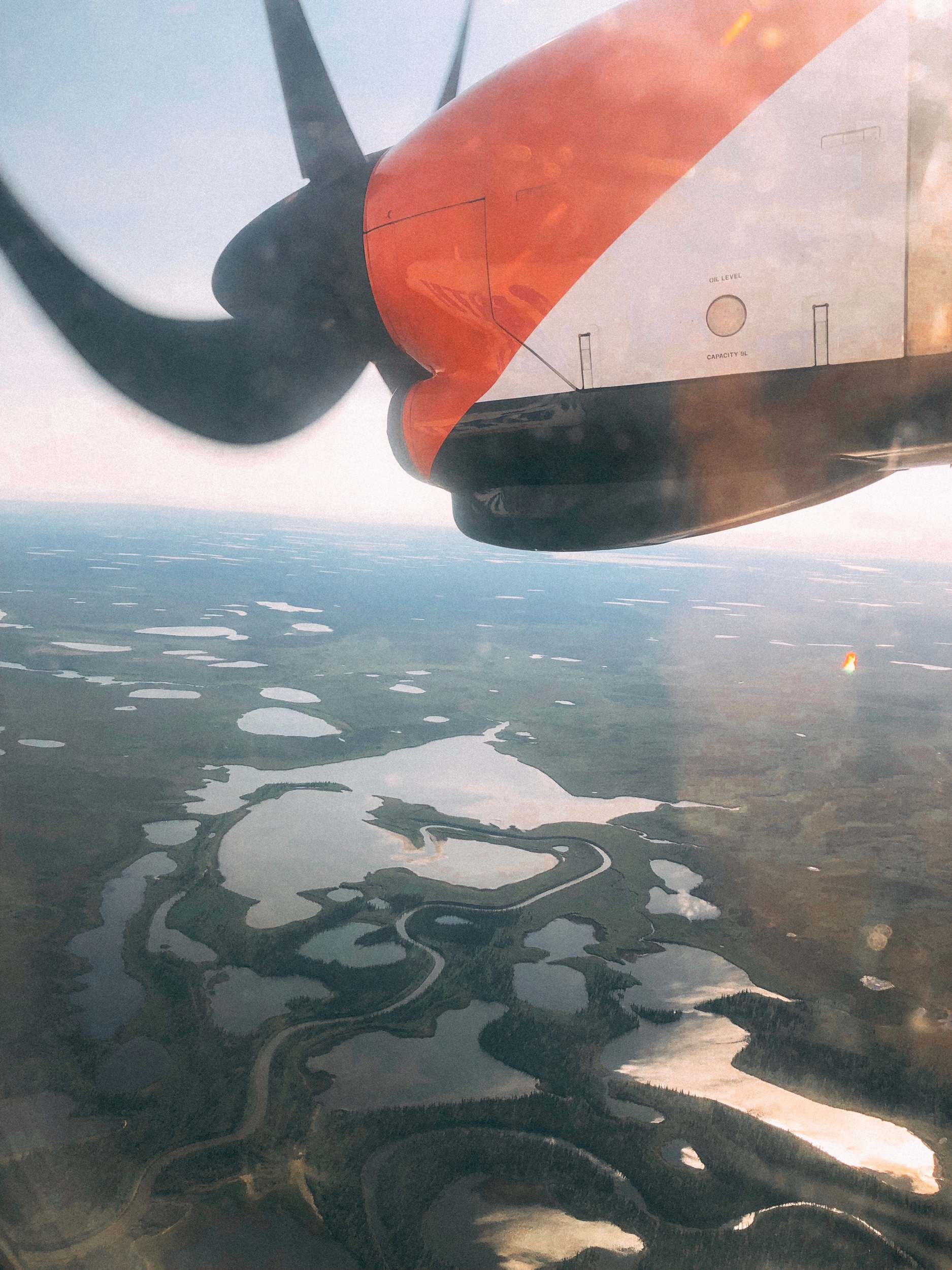 Air North flight from Whitehorse to Inuvik, Arctic