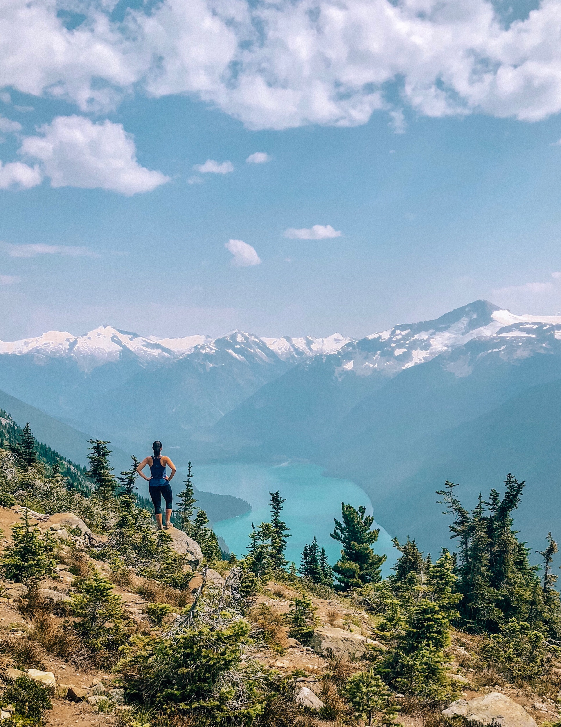 Most scenic mountain and lake views on Whistler Blackcomb Canada