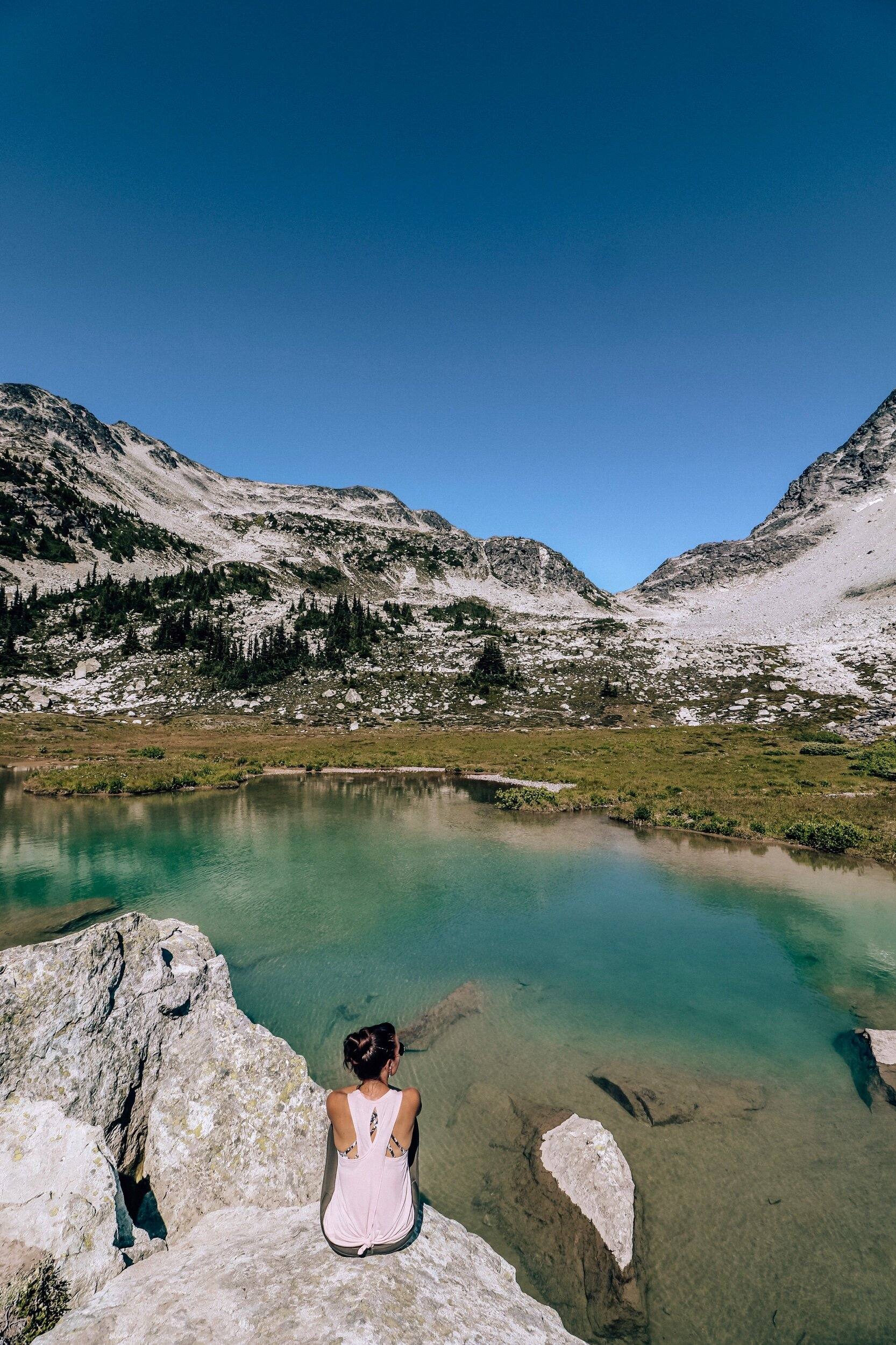 Whistler alpine meadows and lake hikes